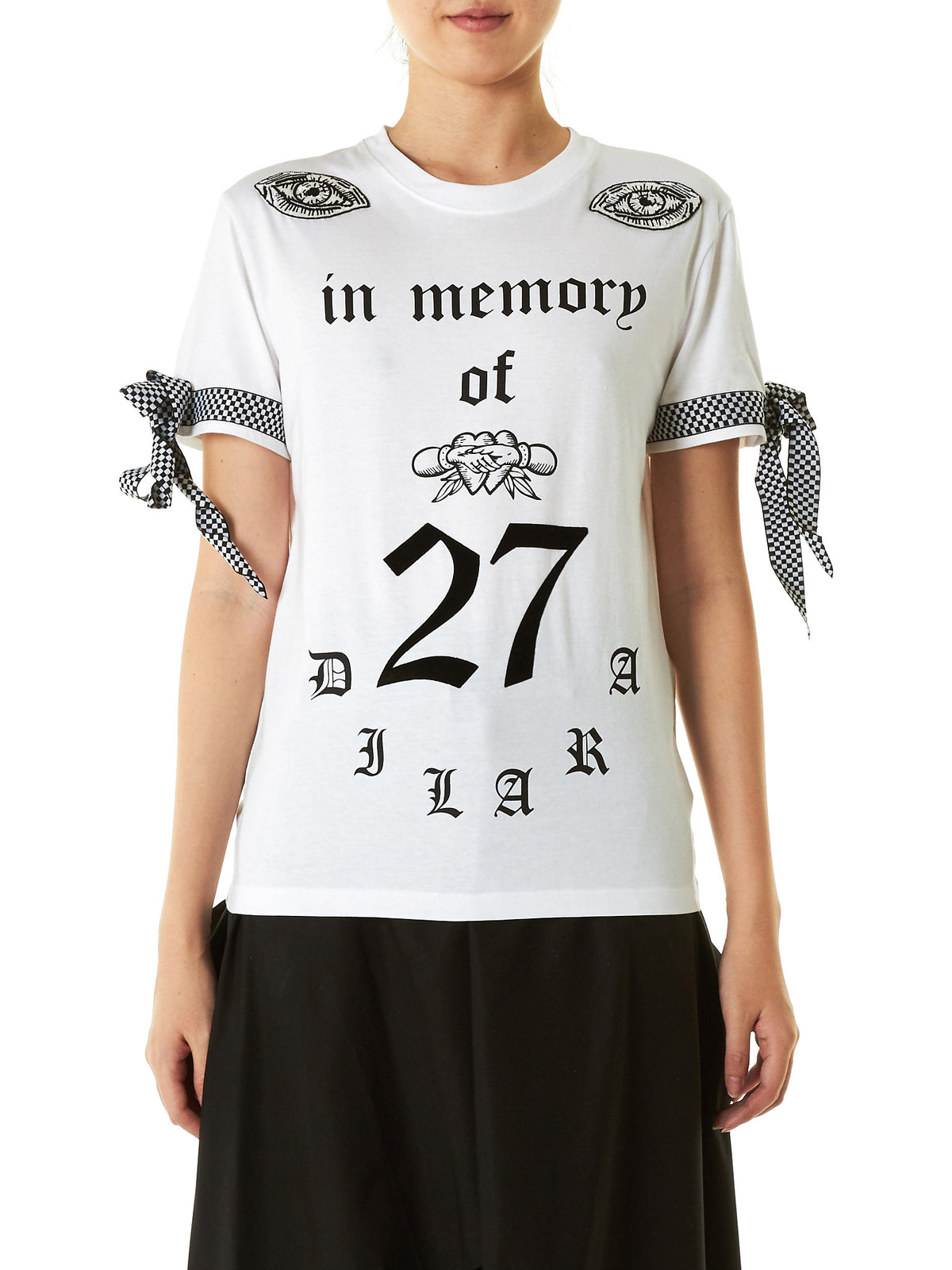 Embroidered Graphic Tee (IN-MEMORY-OF-TEE-WHITE) - H. Lorenzo