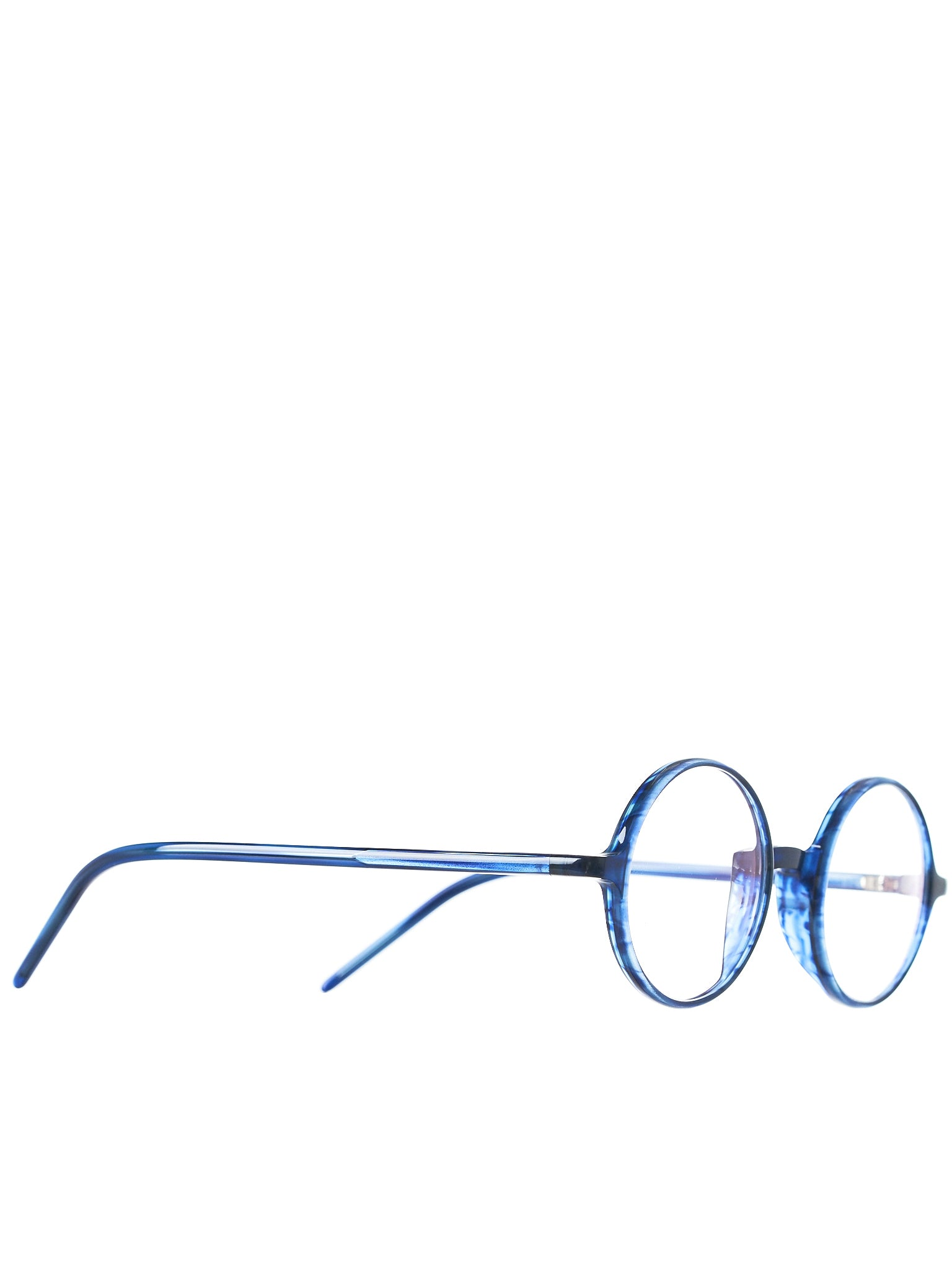 NAMIHANA Round-Frame Glasses (NAMIHANA-CR-NAVY-WAVE-CLEAR)