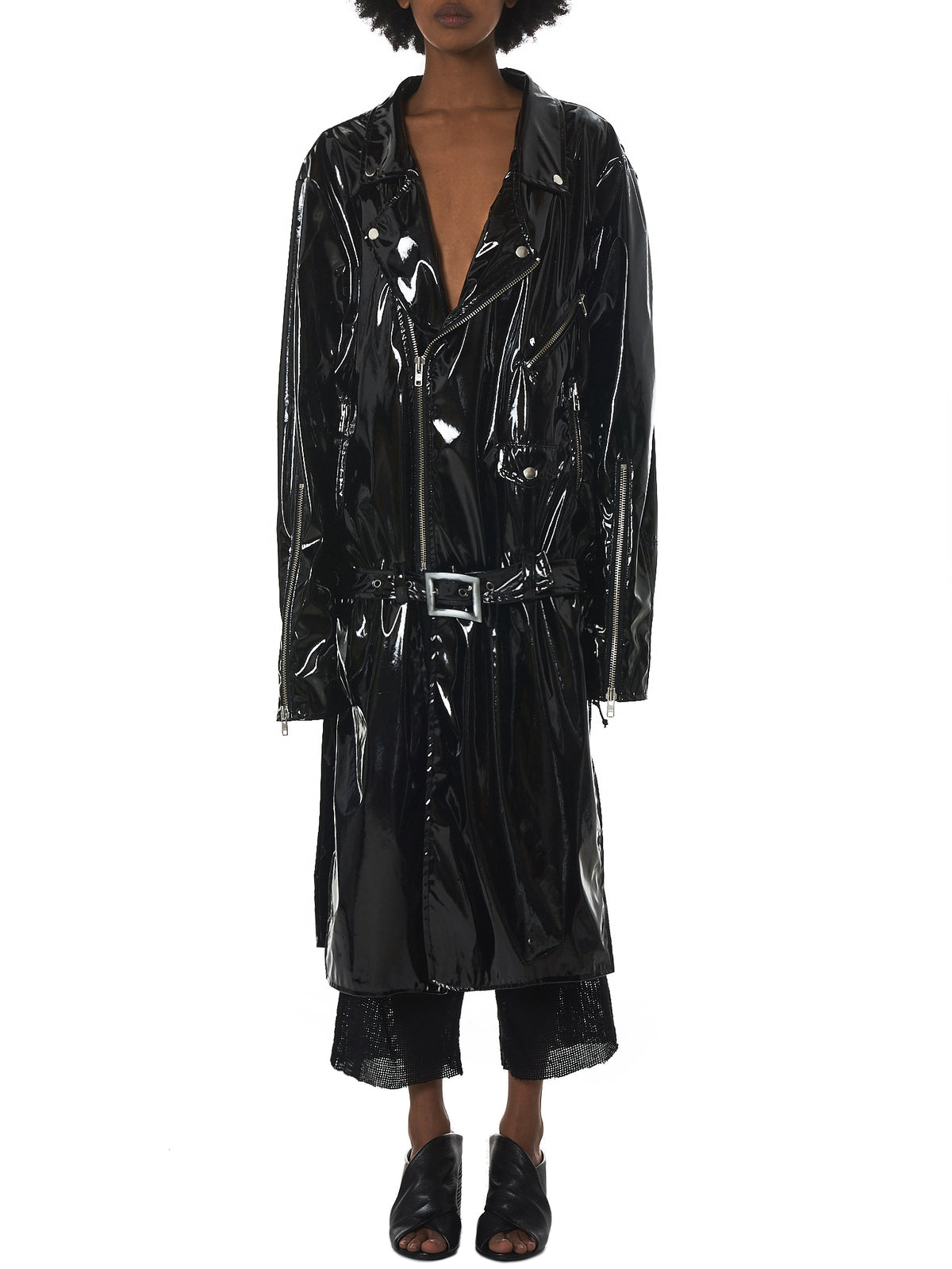 Nelly Johansson Leather Coat - Hlorenzo Front