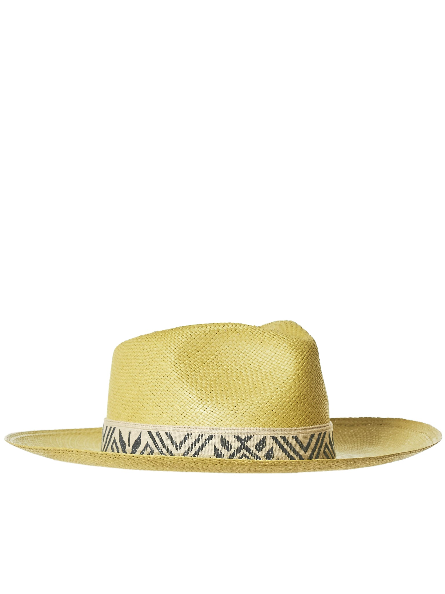 Creased Straw Hat (NATIV-STRAW-YELLOW)