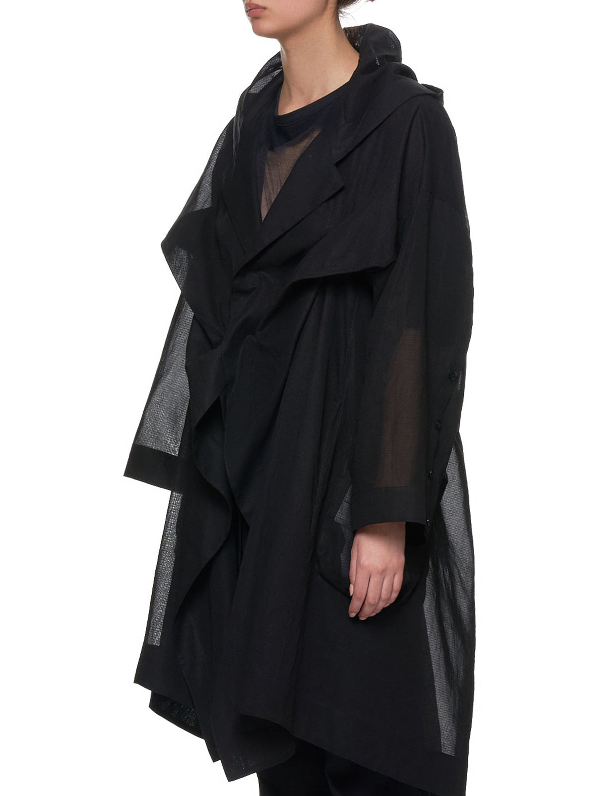 Transparent Duster Jacket (NH-C02-008-BLACK)