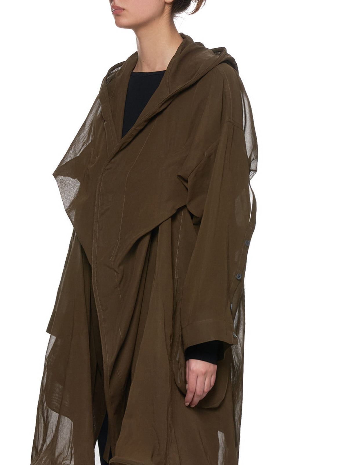 Transparent Duster Jacket (NH-C12-007-KHAKI)