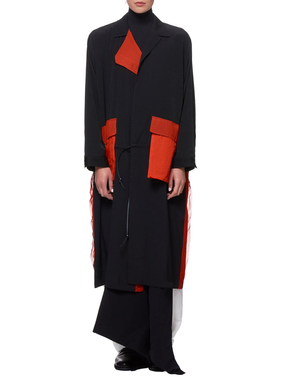 Asymmetrical Coat (NH-C15-807-BLACK)