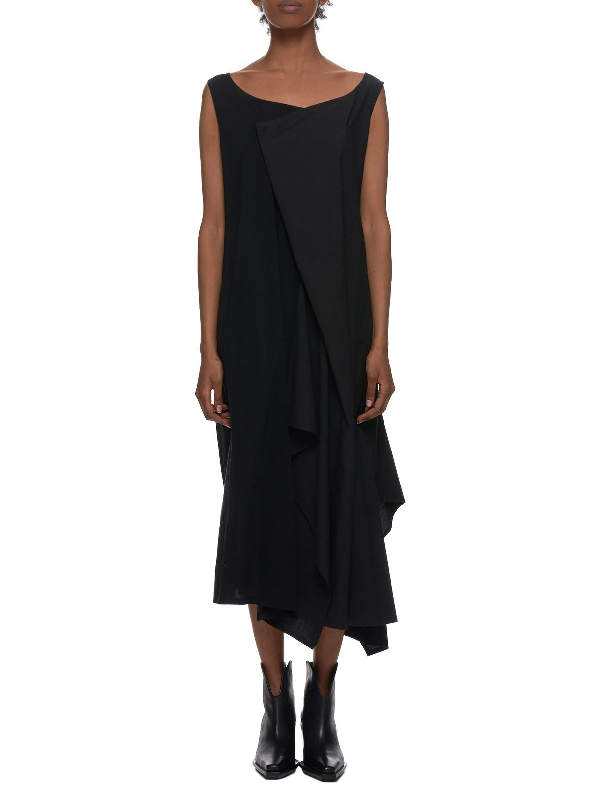 Asymmetrical Drape Dress (NH-D10-812-BLACK)