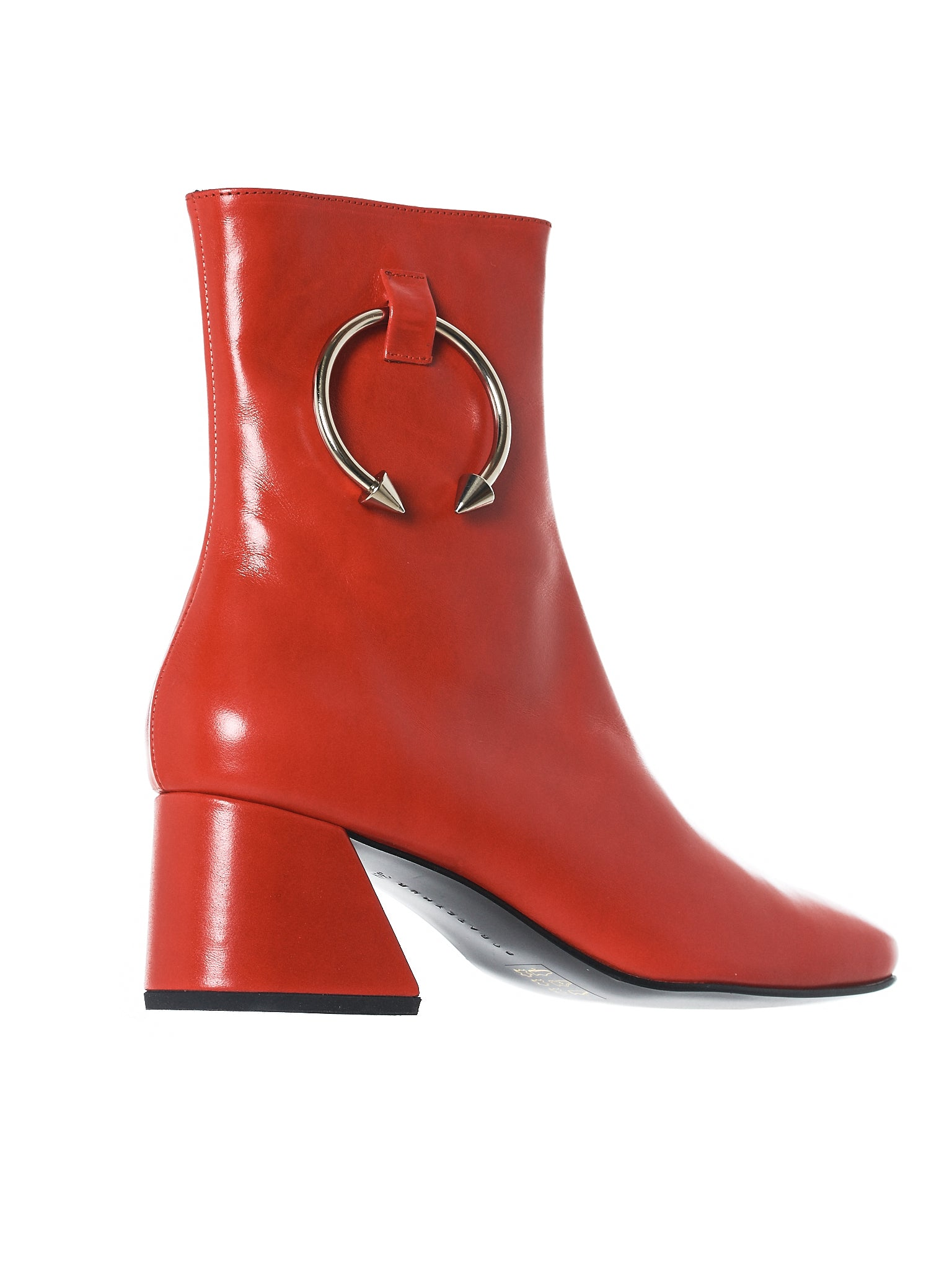 Patent Pierced Boots (NIZIP-II-VITELAS-LEATHER-RED)