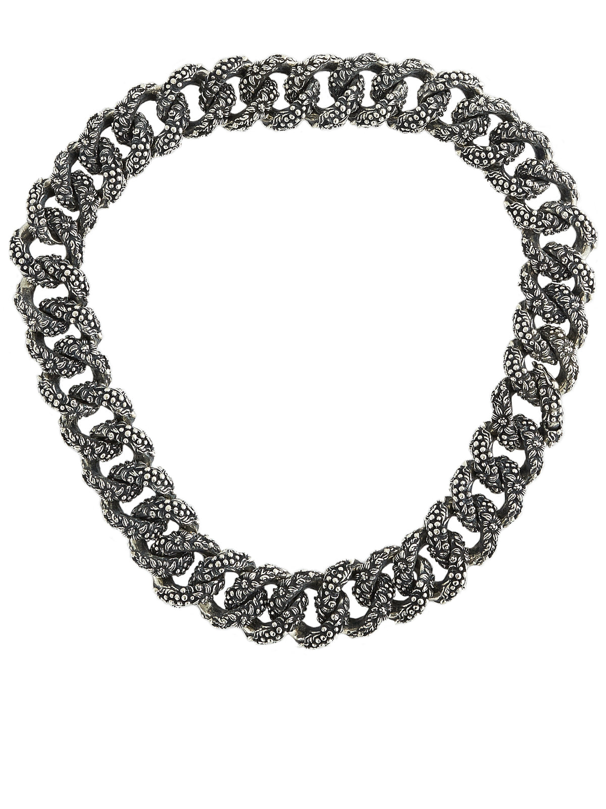 Bush Chain Necklace (NK084-AGN-SILVER)