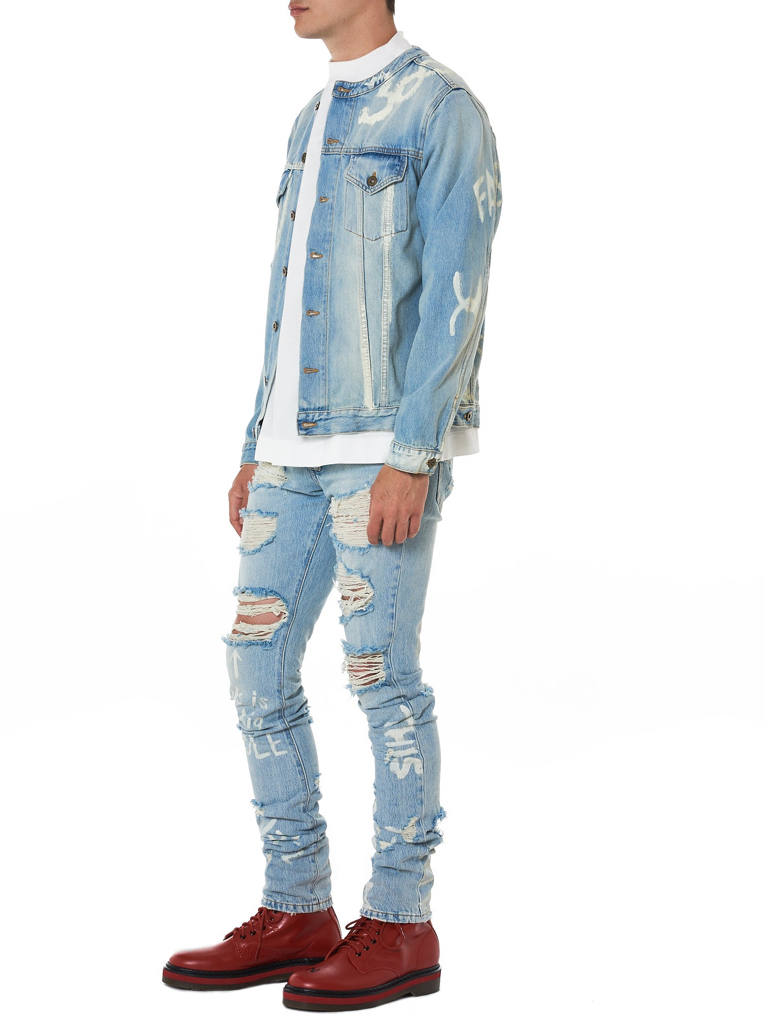 IH NOM UH NIT Distressed Denim - Hlorenzo Style