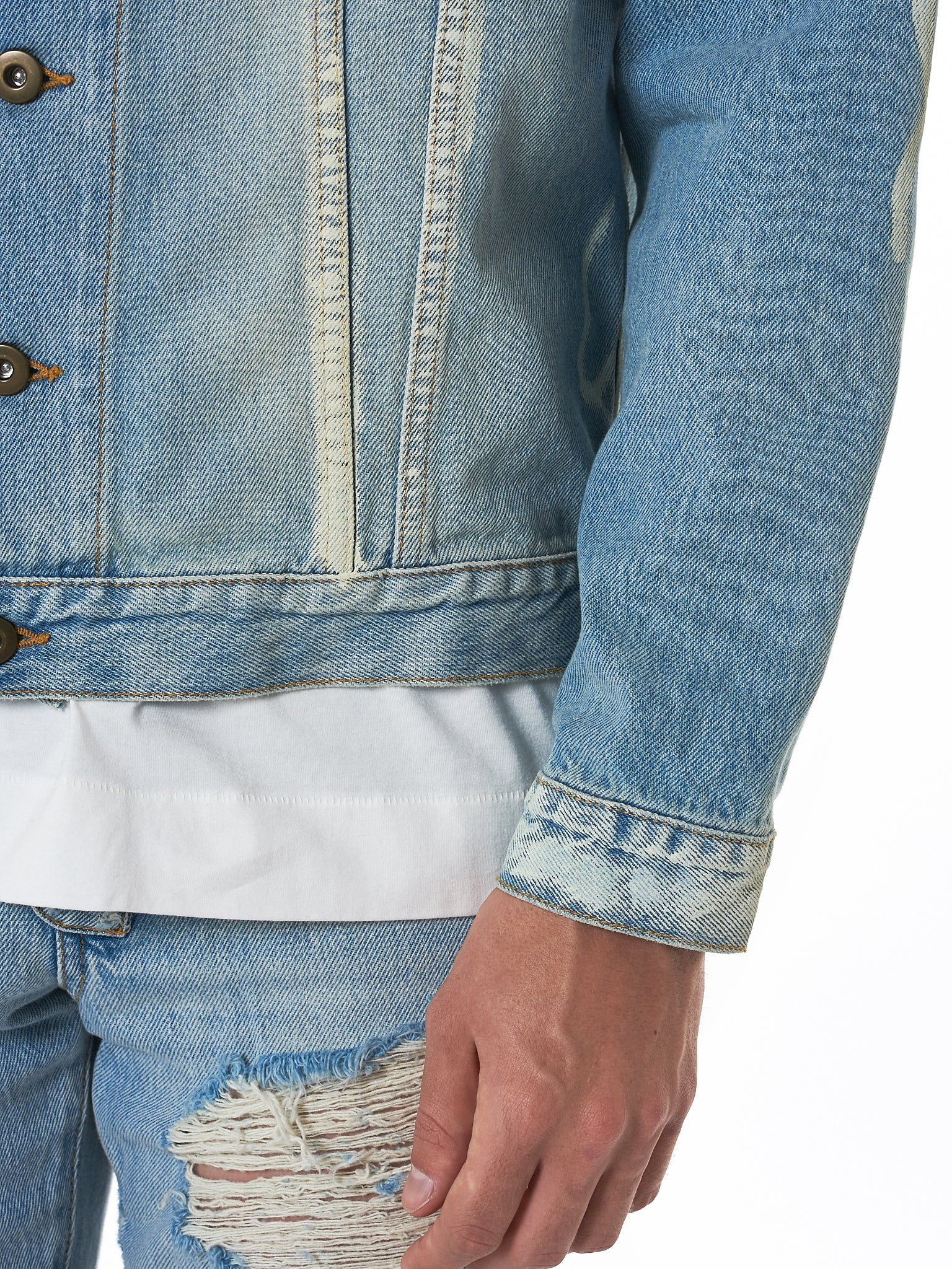 IH NOM UH NIT Denim Jacket - Hlorenzo Detail 4