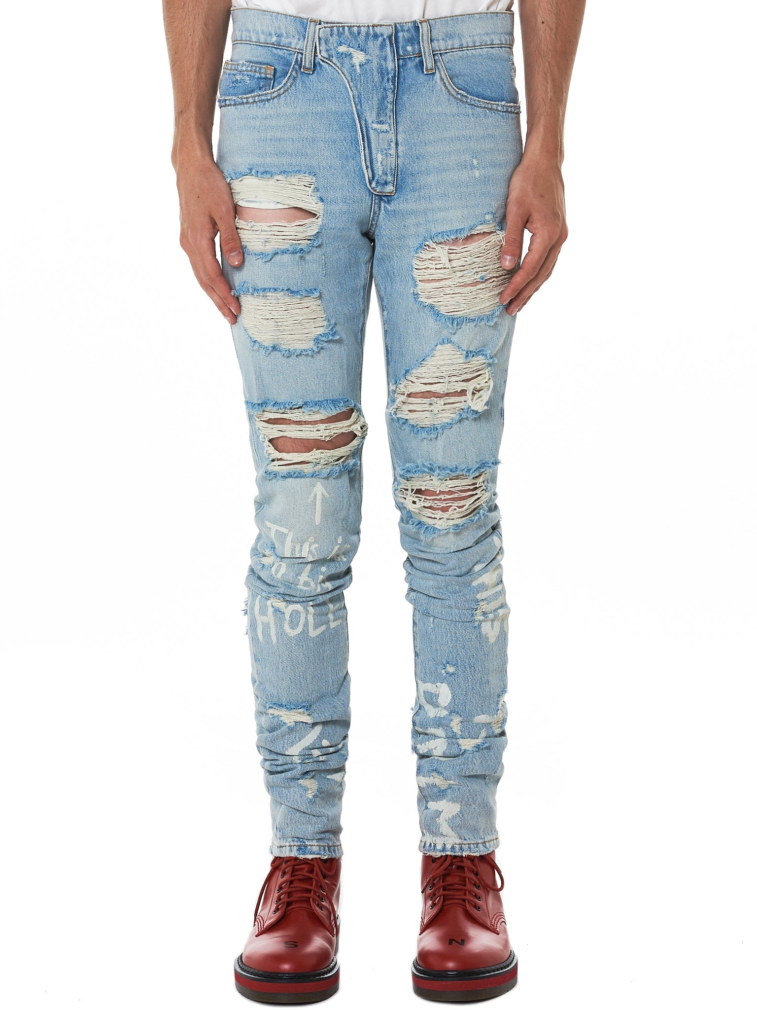 IH NOM UH NIT Distressed Denim - Hlorenzo Front