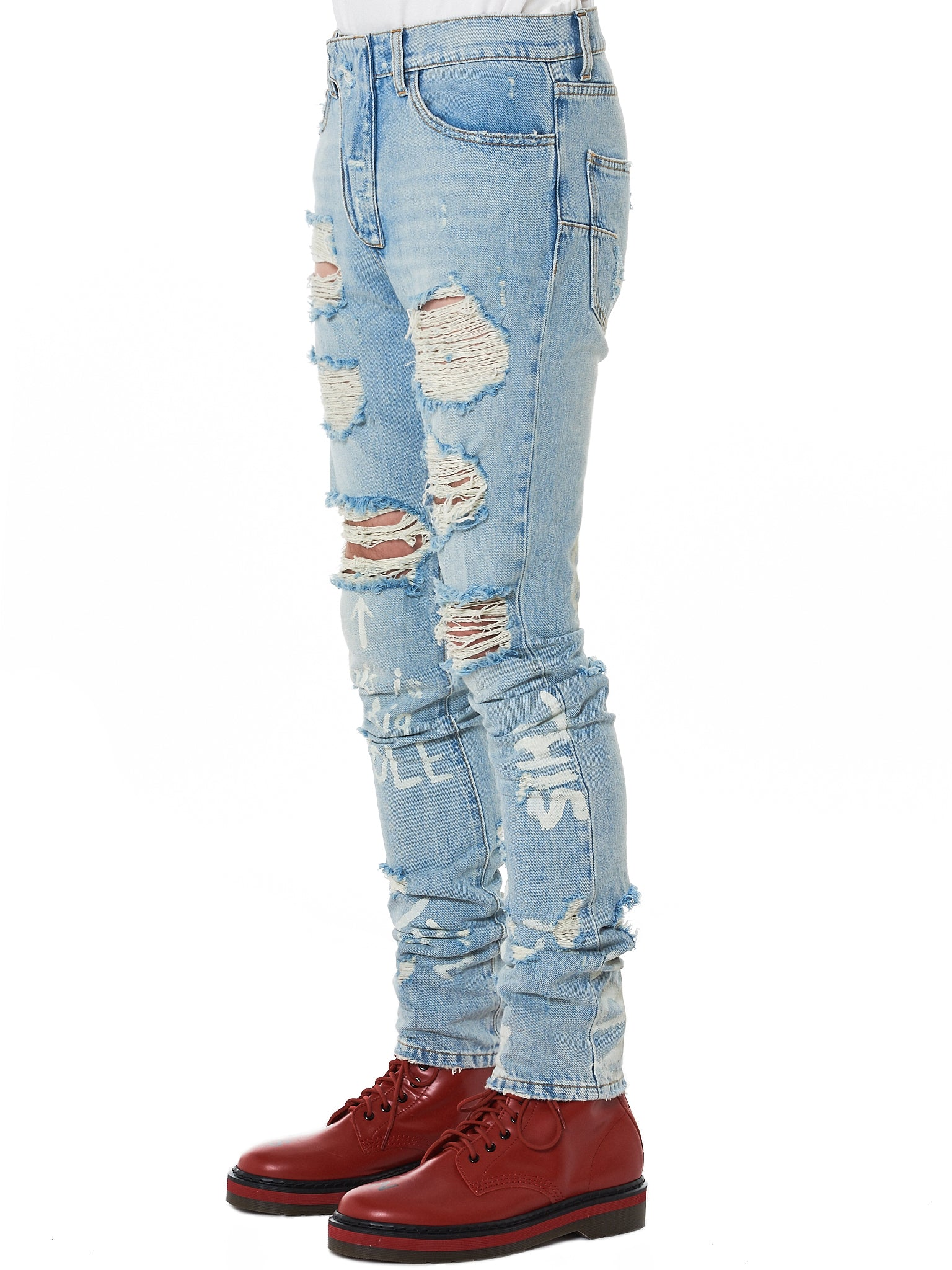 IH NOM UH NIT Distressed Denim - Hlorenzo Side