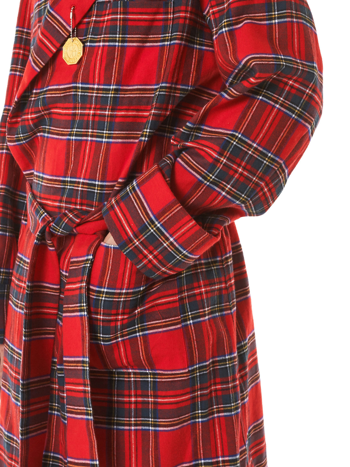 'Pendant' Flannel Coat (NN10-CT03-A-RED) - H. Lorenzo