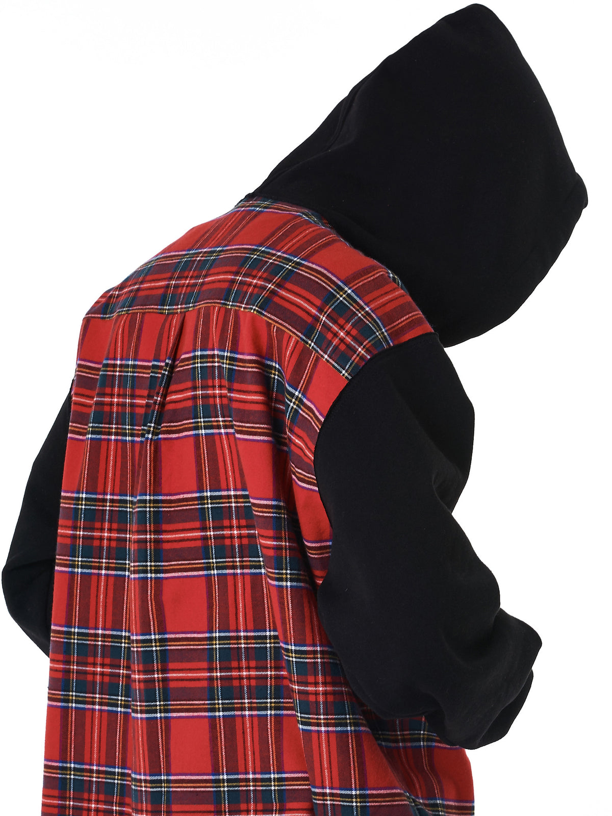 Plaid Hooded Sweater (NN10-ST08-A-BLK-RED-CHECK)