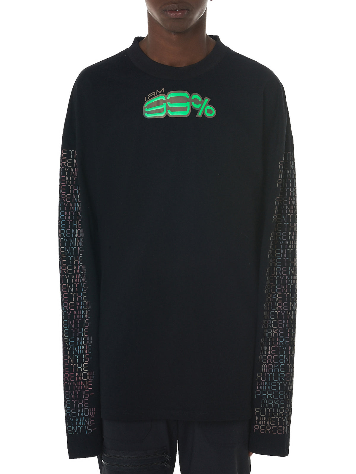 Hologram Long-Sleeve Tee (NN11-CS02-BLACK)