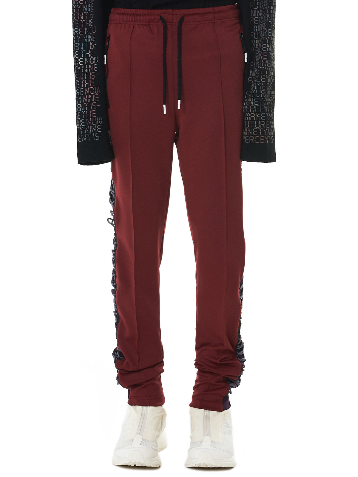 Lace-Up Detail Joggers (NN11-PT03-WINE)