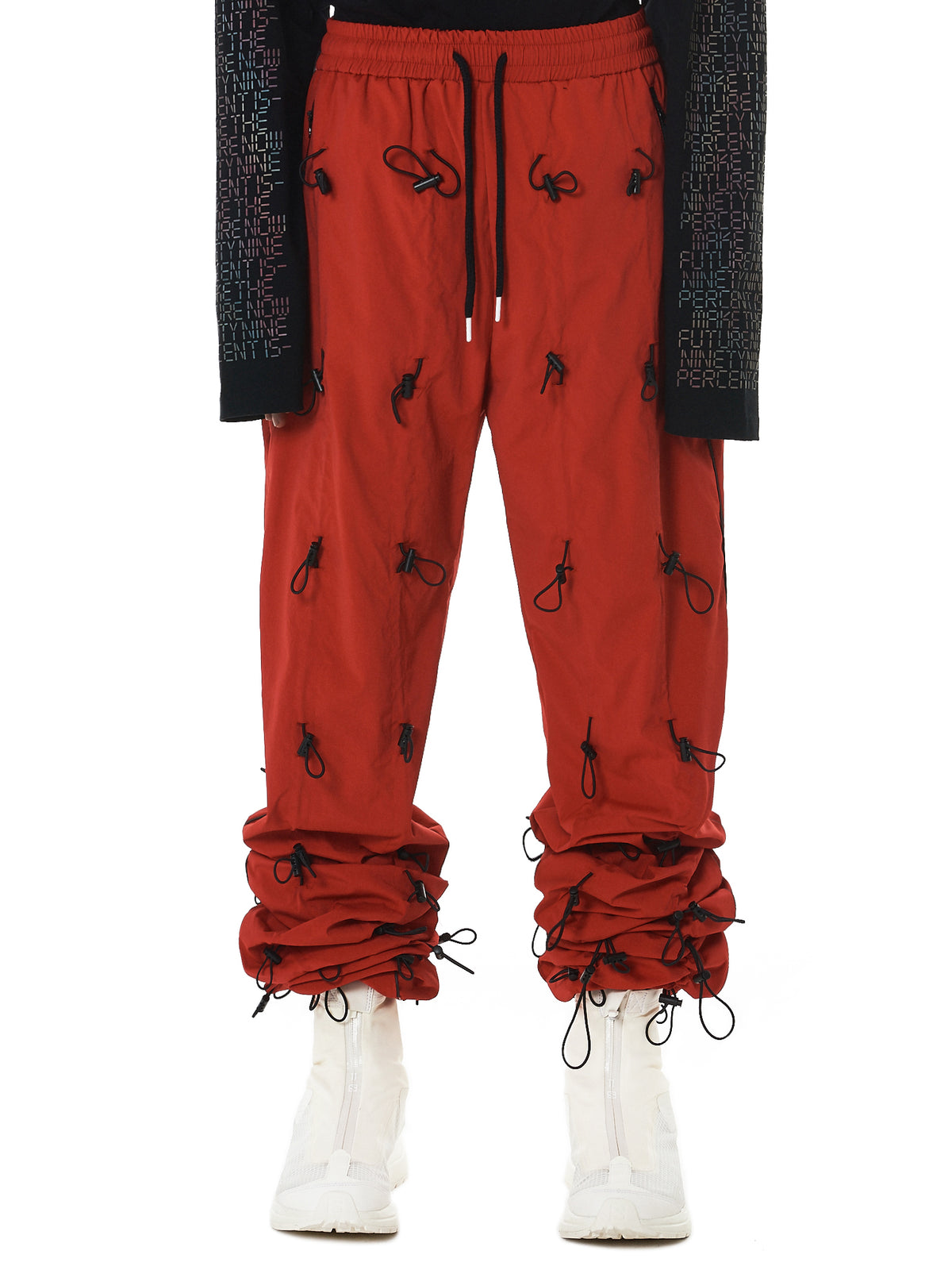 Bungee Pull Wrinkled Pants (NN11-PT12-RED)