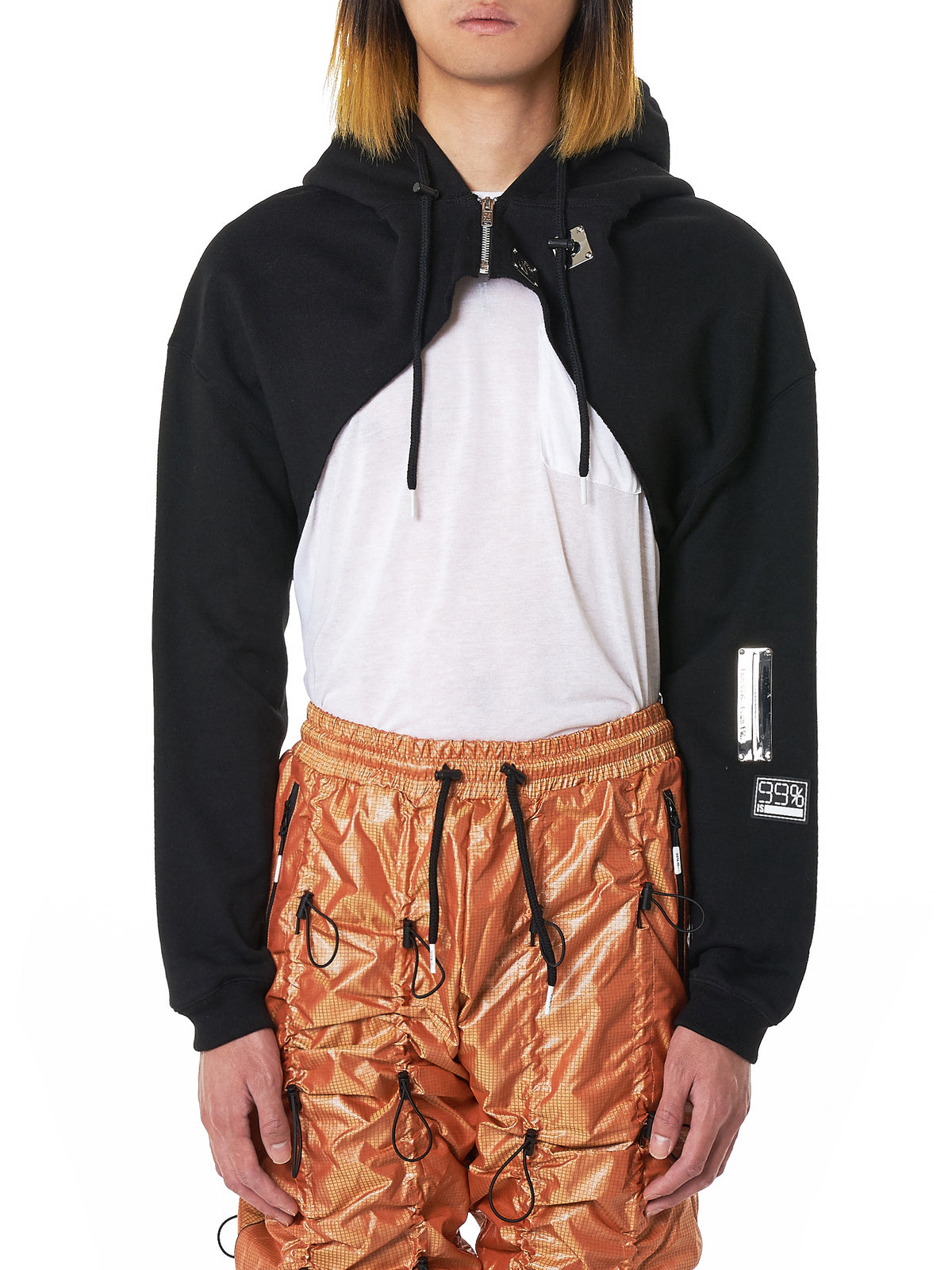 99%IS Cut-Off Hoodie - Hlorenzo Front