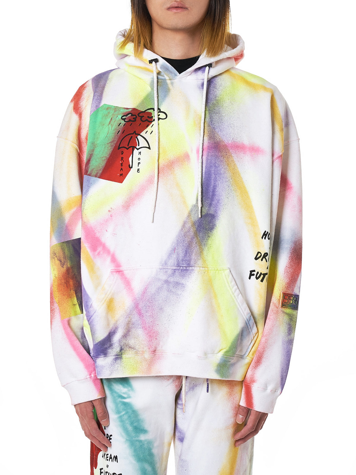 99%IS Spray Paint Hoodie - Hlorenzo Front