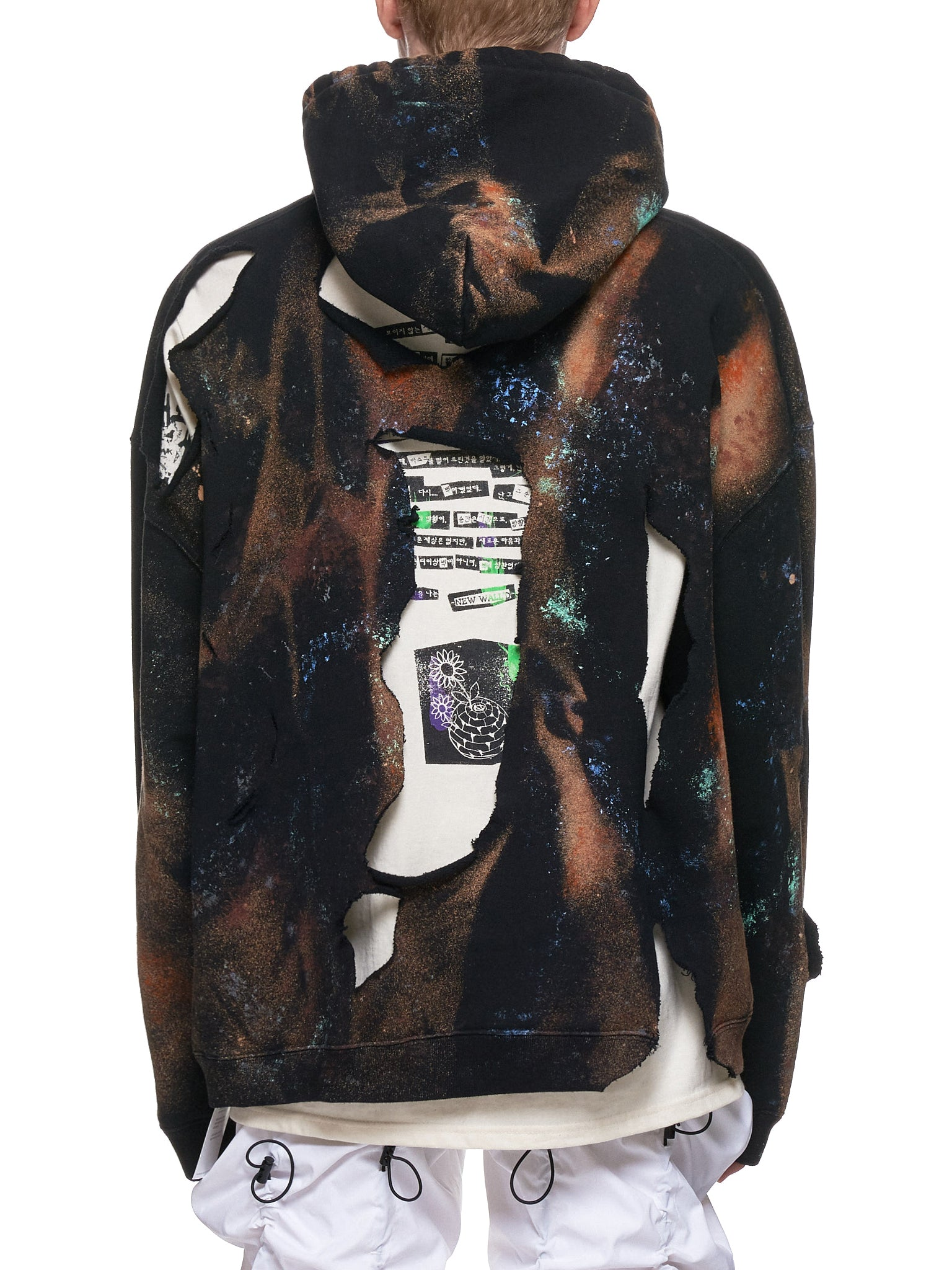 Destroyed Bleach Hoodie (NN13-HD01-BLACK)