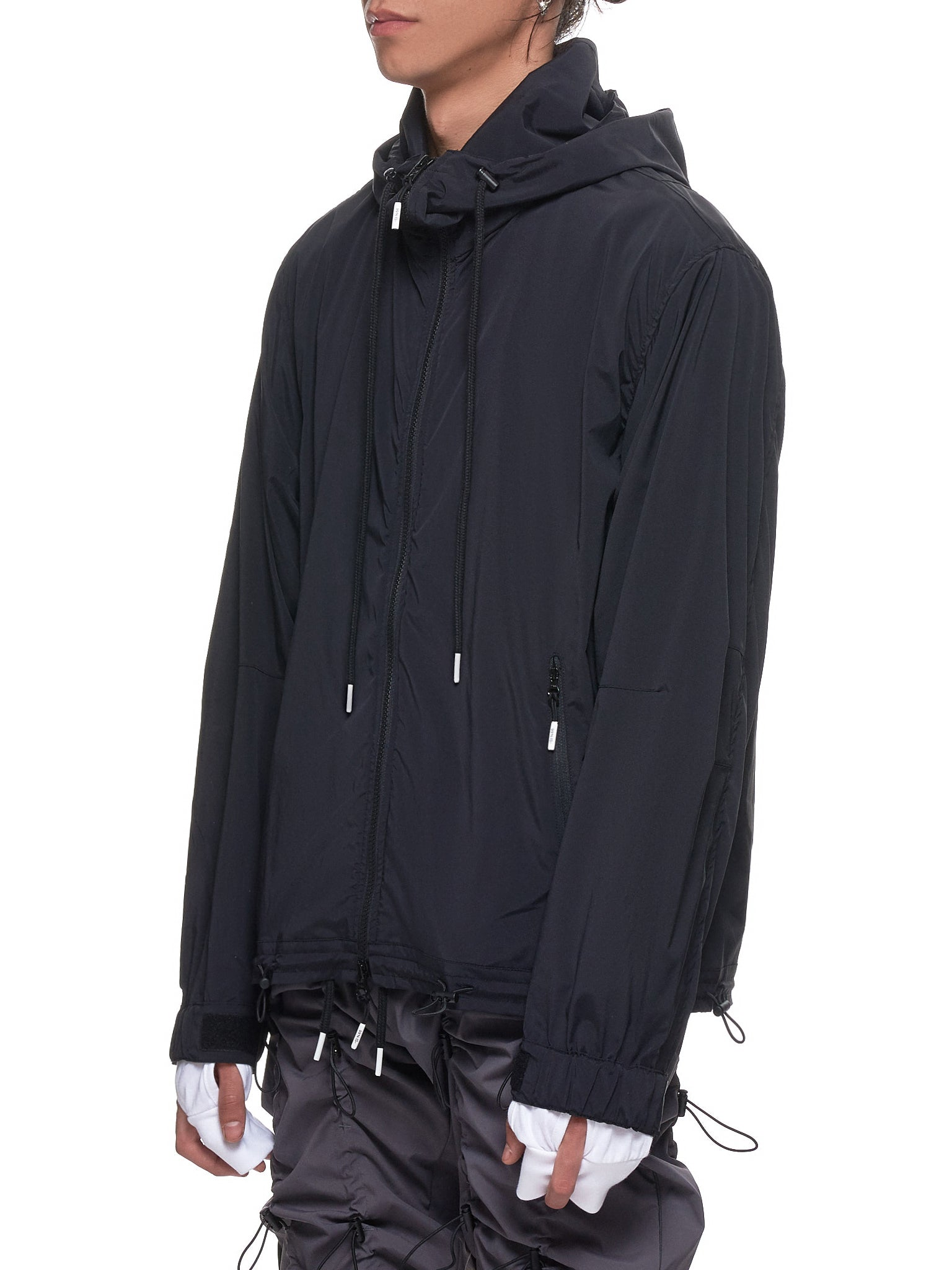 Cord Lock Windbreaker (NN13-HD06-BLACK)
