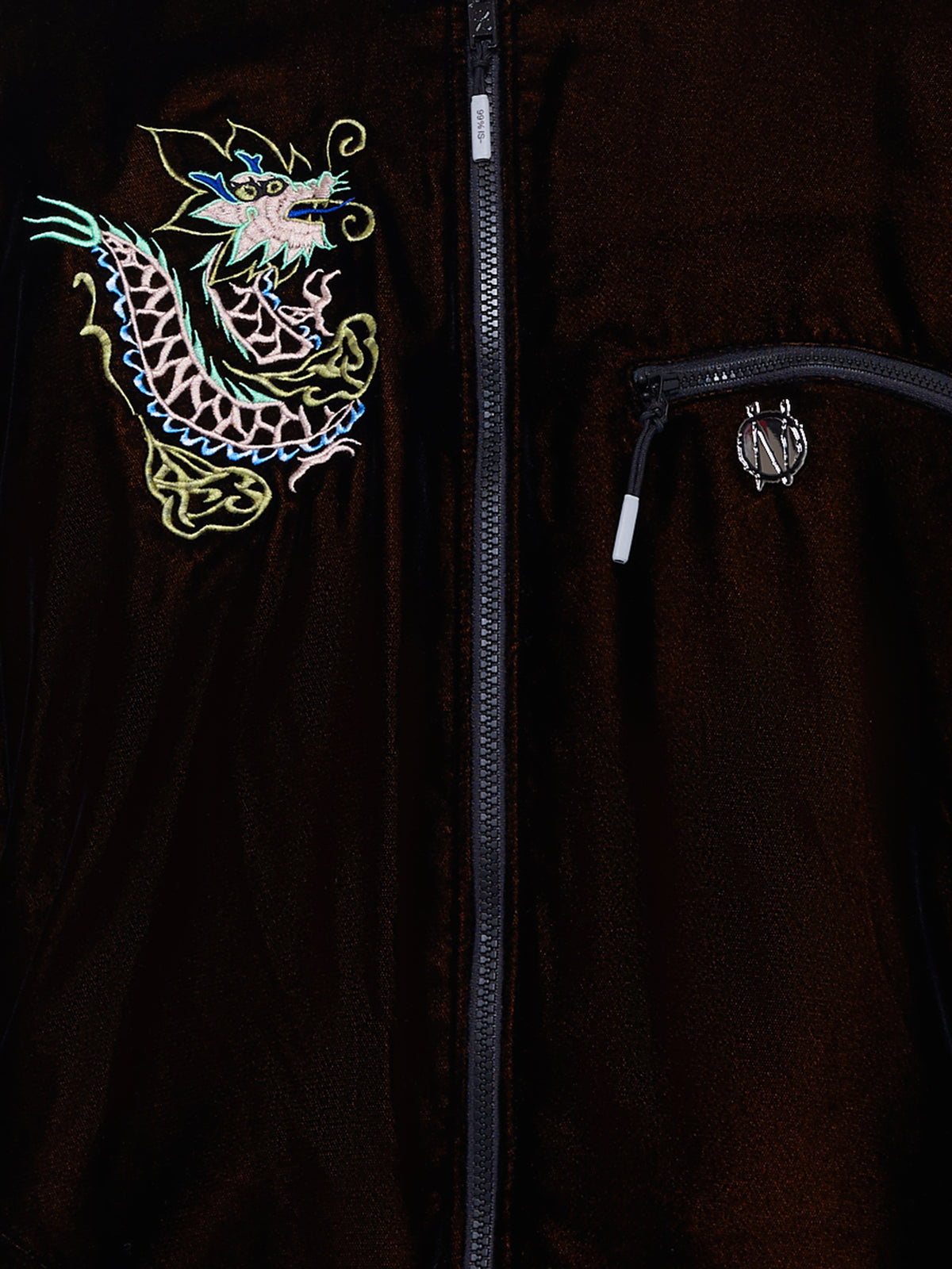 Custom Souvenir Dragon Jacket (NN15-JK04-BLACK-ORANGE)