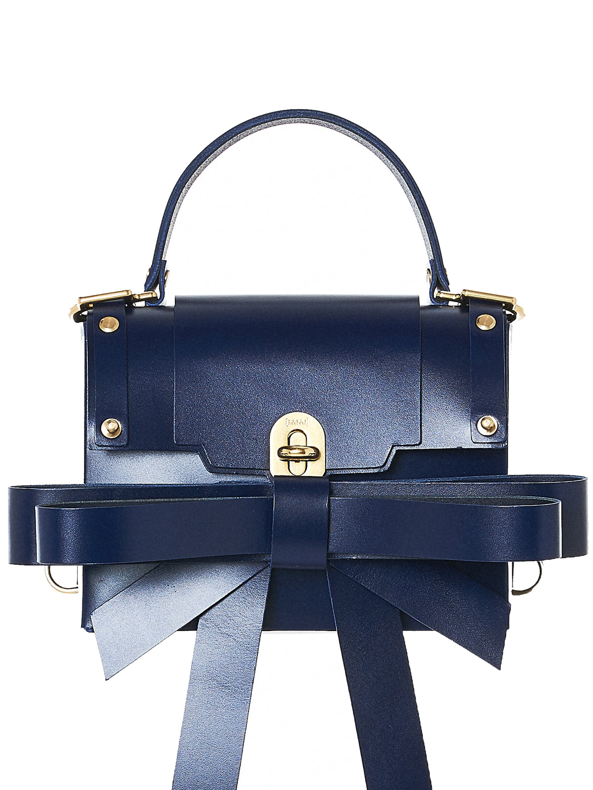 Ribboned Bowtie Leather Purse (NPAW17-14-EVENING-BLUE)