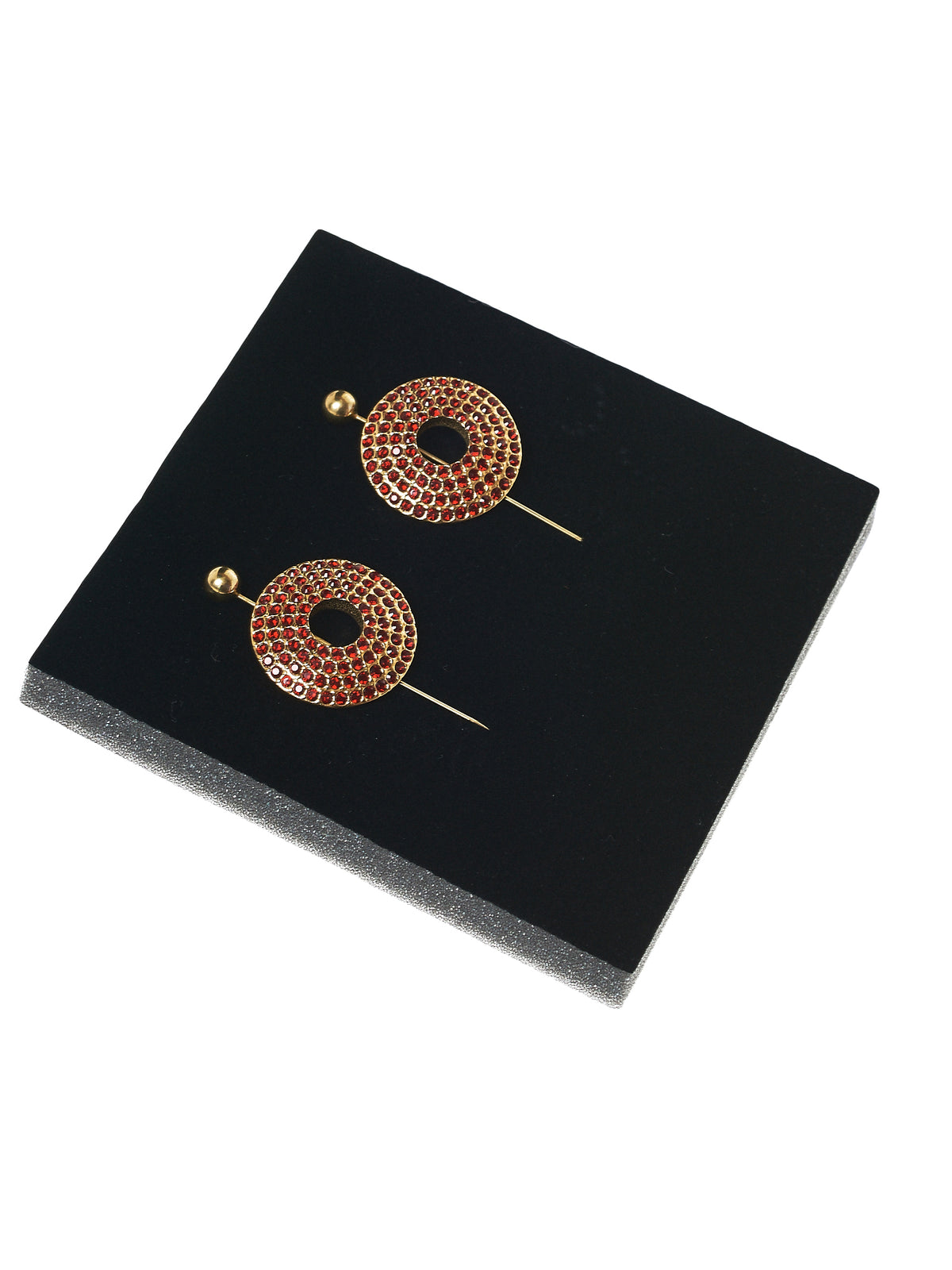 Gem Encrusted Lapel Pin (NPIERC-S14-FBG-GOLD-RUBY)