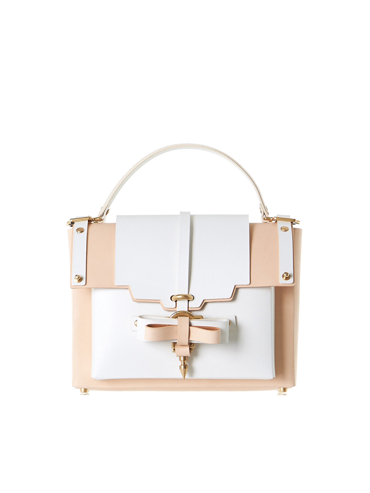 Bow Buckle Bag (NPSS17-04-WHITE-NUDE) - H. Lorenzo