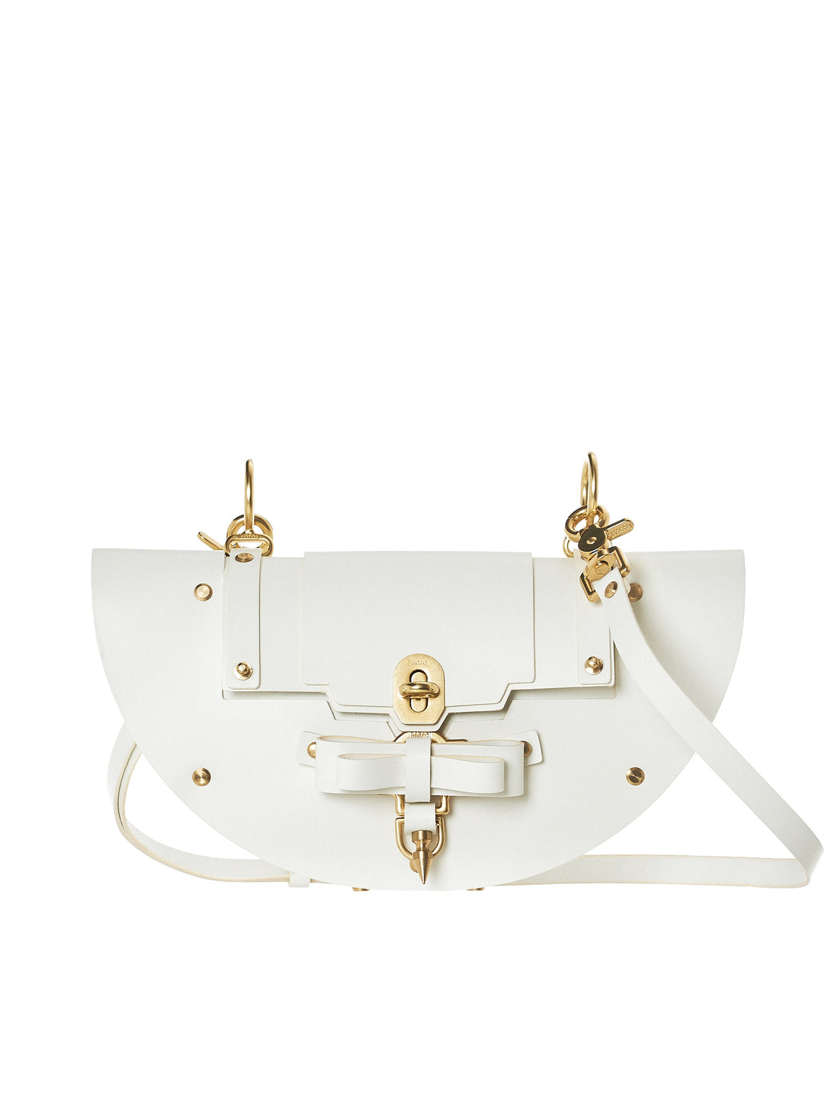 Bow Buckle Eclipse Bag (NPSS18-08-WHITE)