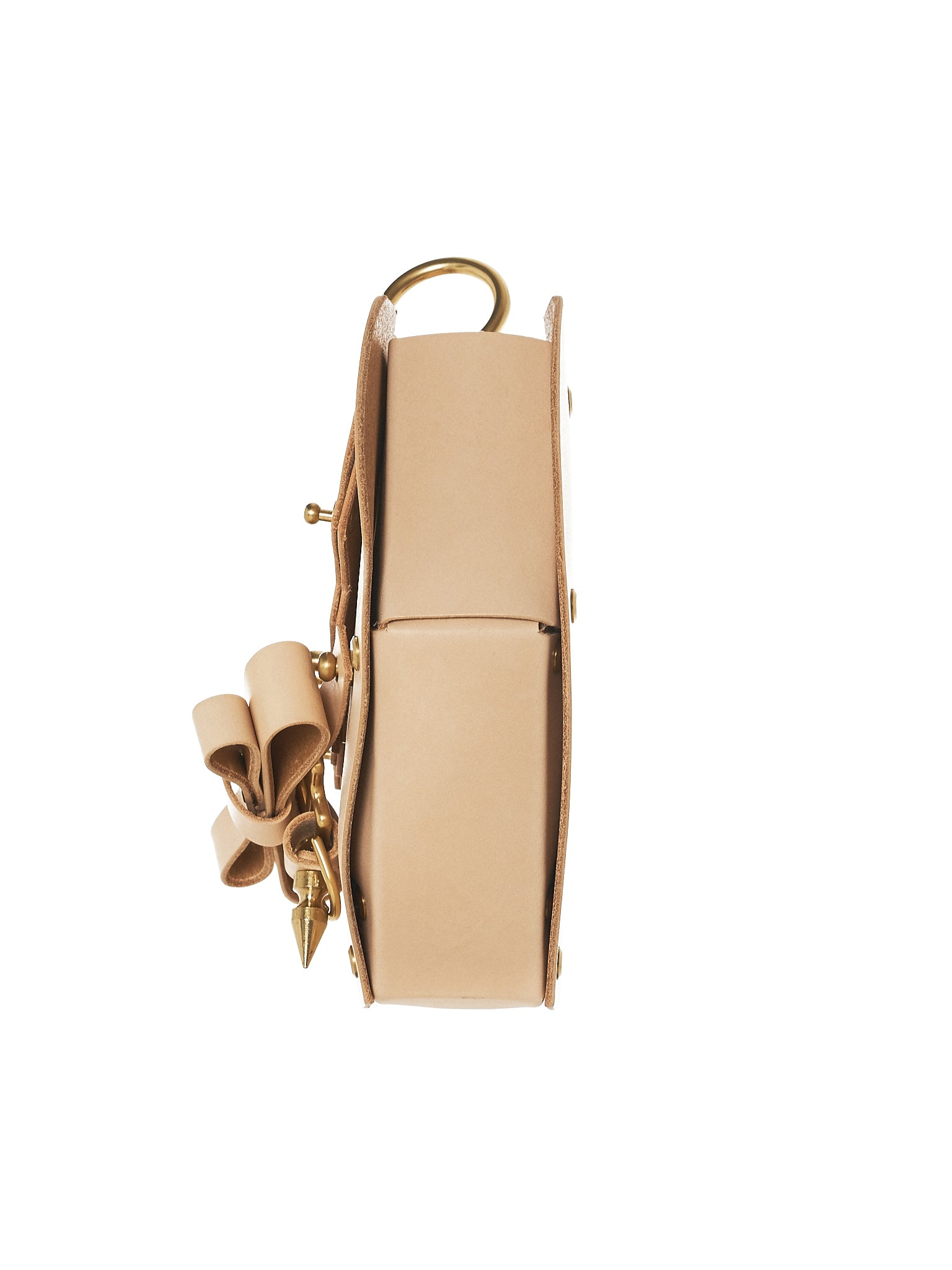 Bow Buckle Heart Bag (NPSS18-09-NUDE)