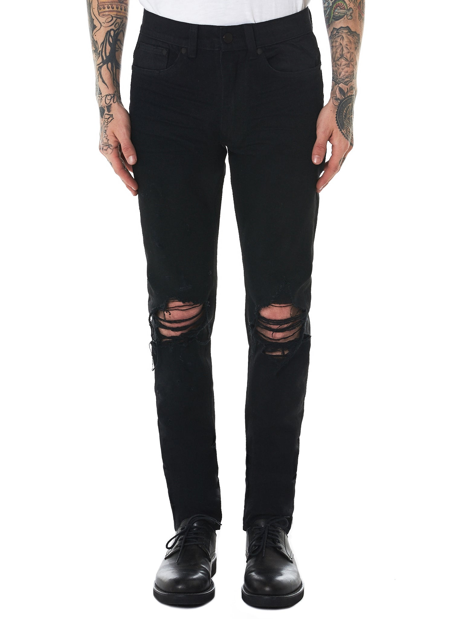 Nahmias Distressed Jeans - Hlorenzo Front