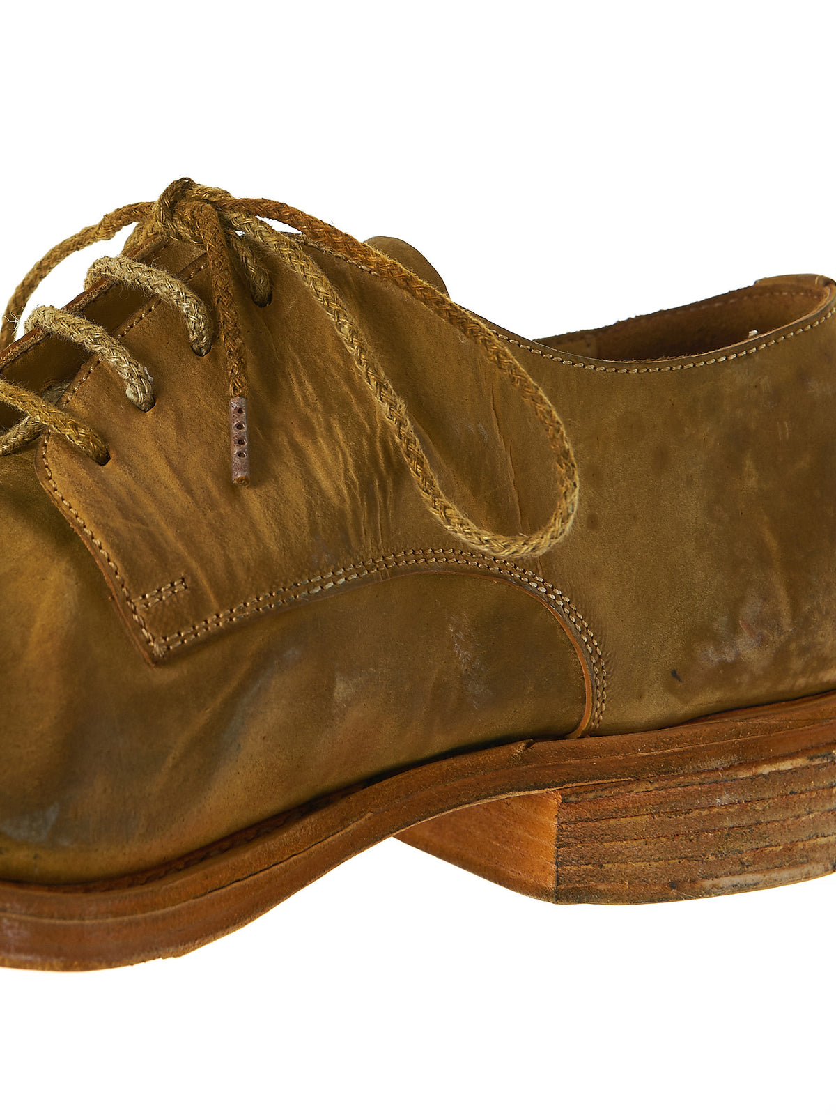 Laced Derby Shoes (O33N-CULATTA-HORSE-YELLOW) - H. Lorenzo