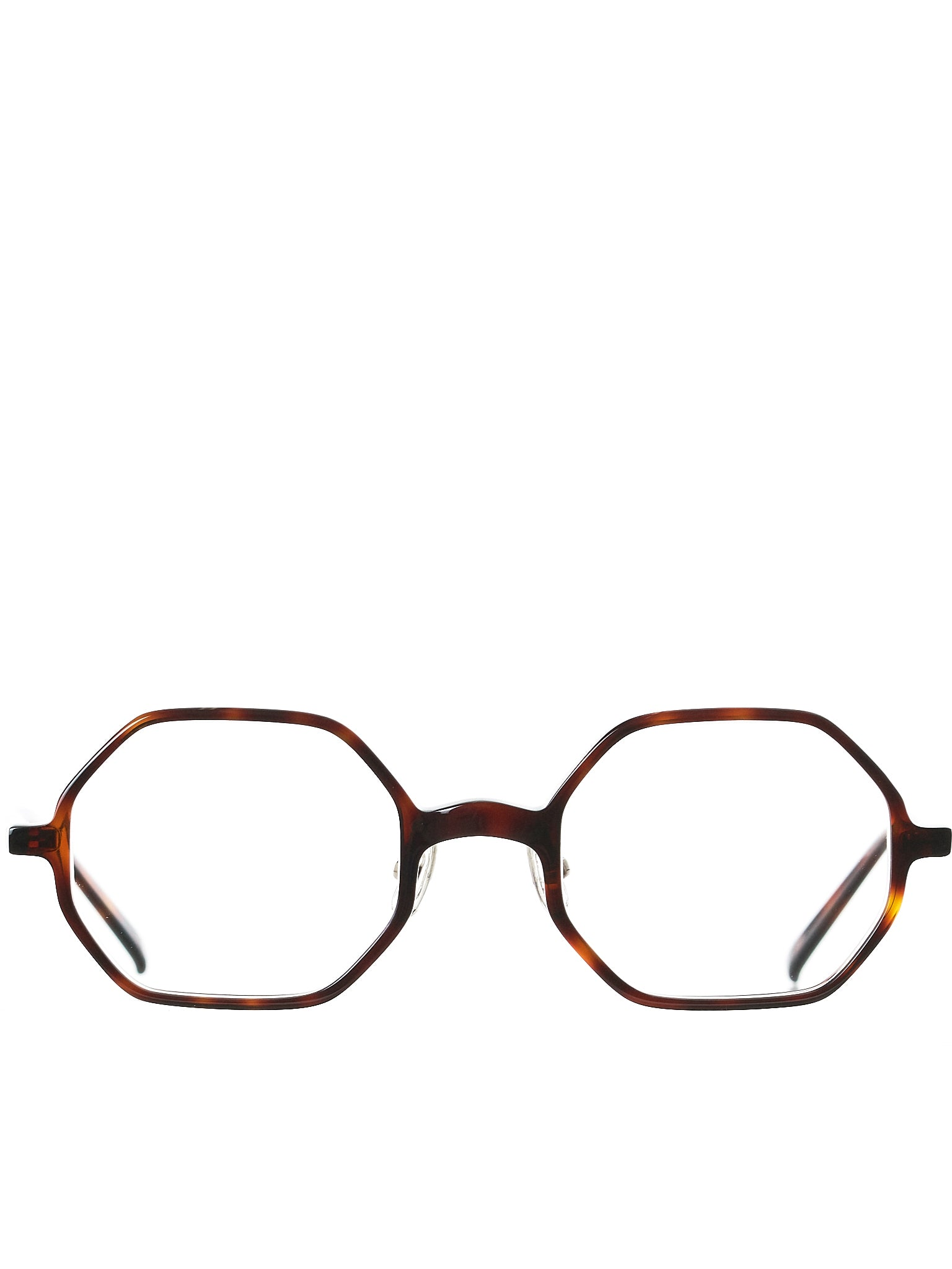 Marbled Octagon Glasses (OCTAGON-BROWN-TORT-CLEAR)