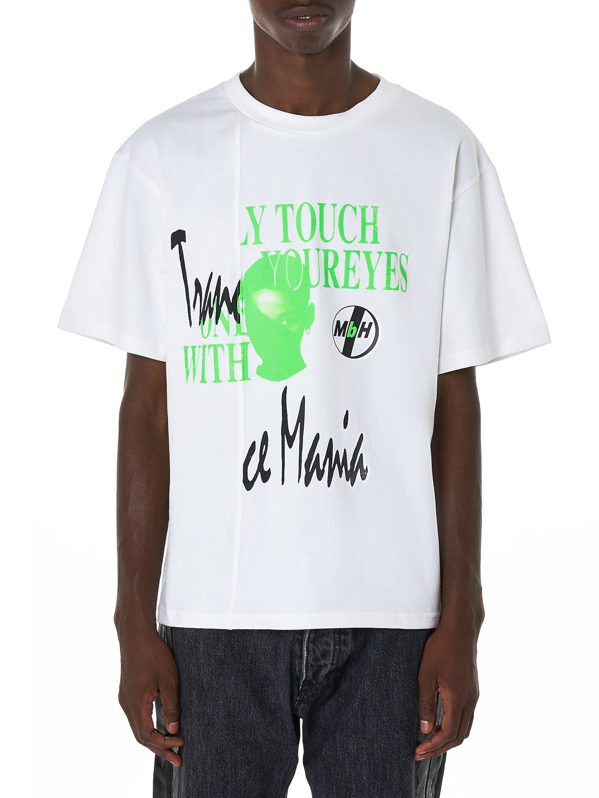 'Only Touch' Double Tee (ONLY-TOUCH-OFF-WHITE)