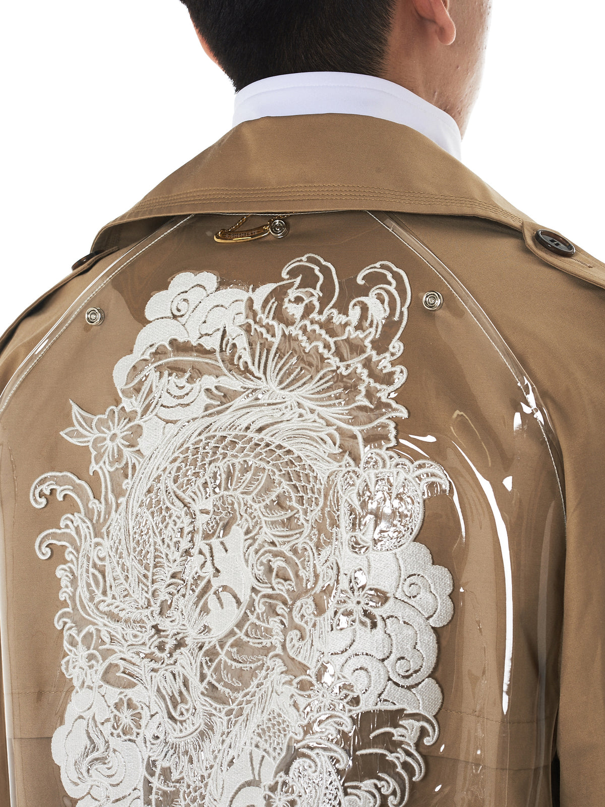 R. Shemiste Trench Coat - Hlorenzo graphic detail