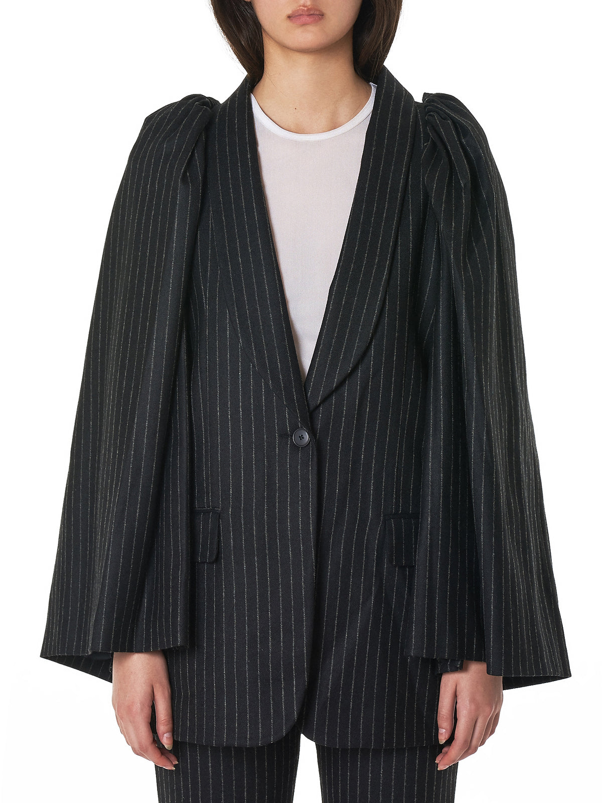 'Oversleeve' Smoking Jacket (OVERSLEEVE-SMOKING-LU2039-BLK)