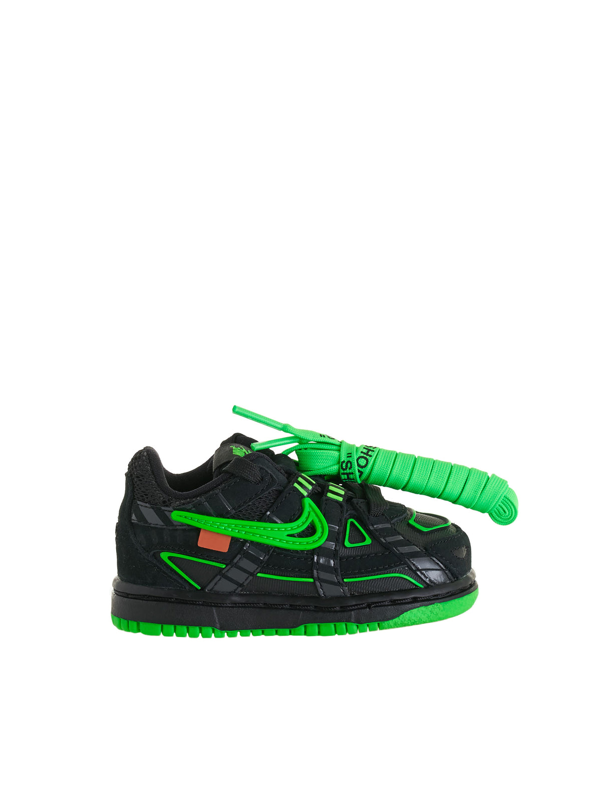 Toddler Nike Air Rubber Dunk Low TD (CW7444-001-BLACK-GREEN)