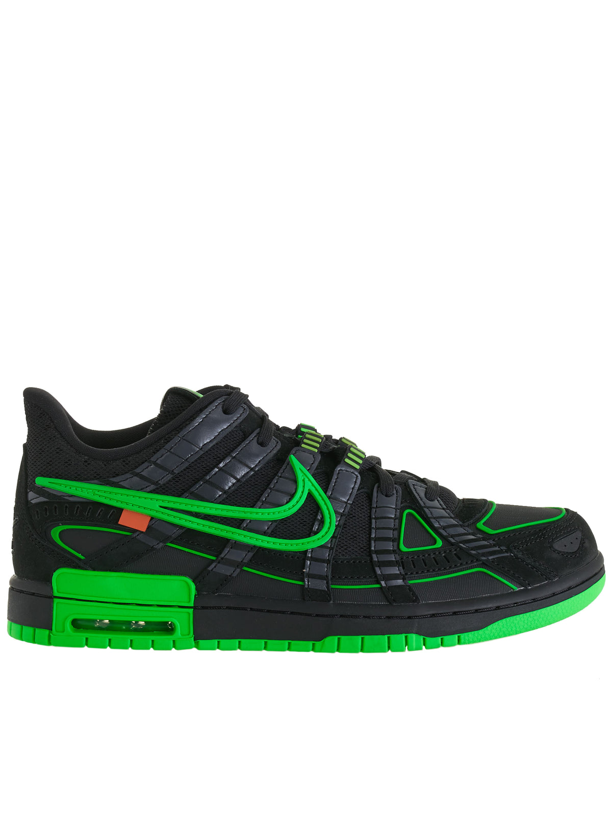 Nike Air Rubber Dunk Low OW (CU6015-001-BLACK-GREEN)