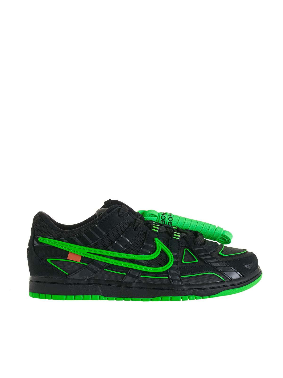 Kids Nike Air Rubber Dunk Low PS (CW7410-001-BLACK-GREEN)