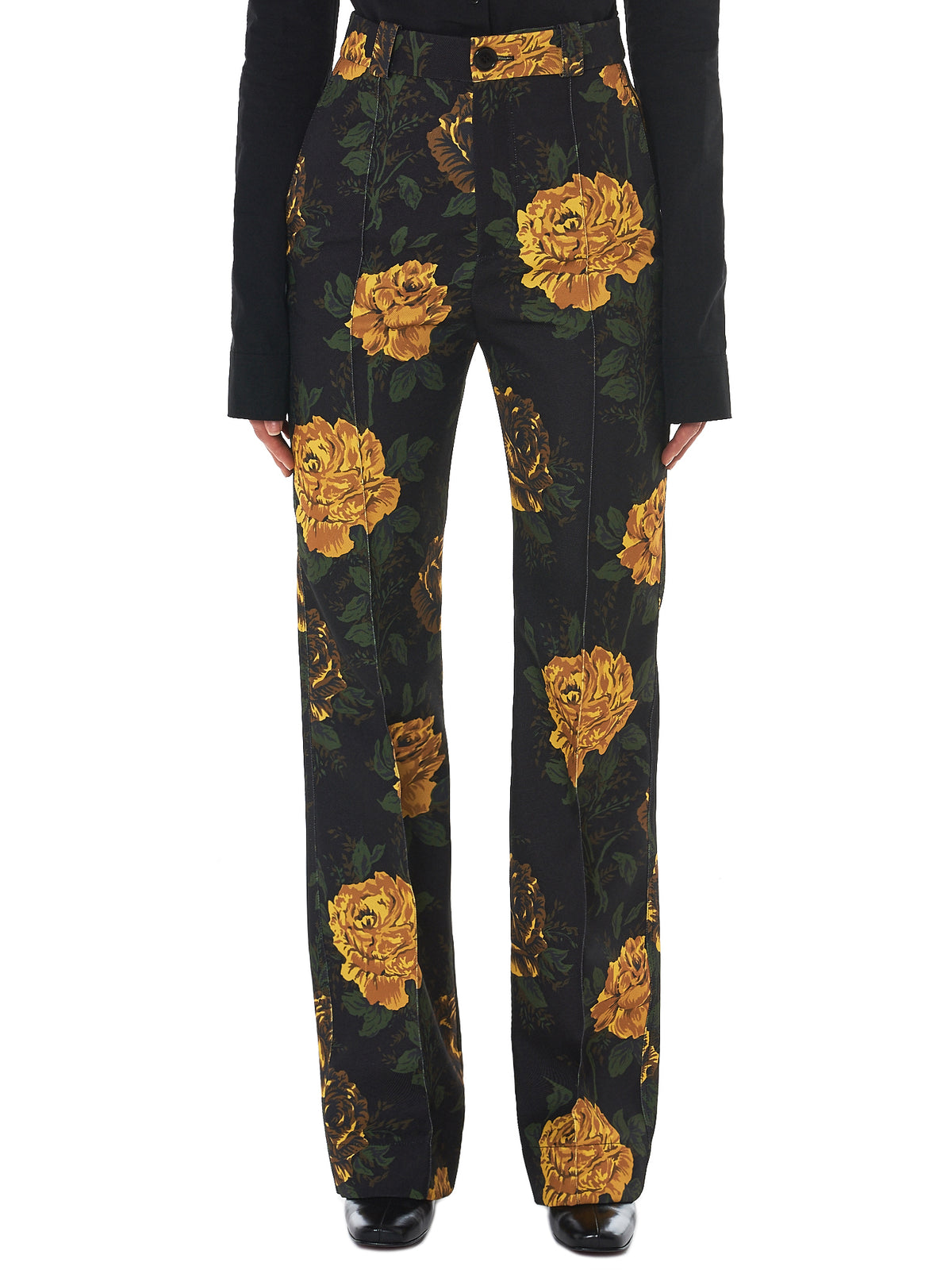 Kwaidan Floral Trousers - Hlorenzo Front