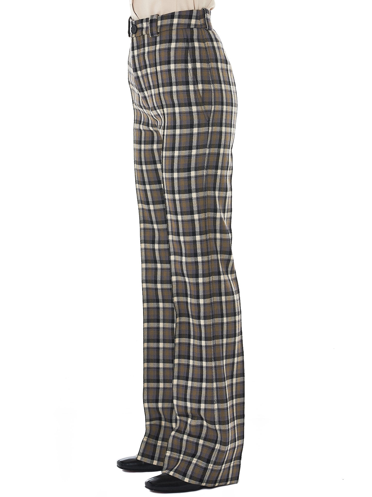 Kwaidan Check Trousers - Hlorenzo Side