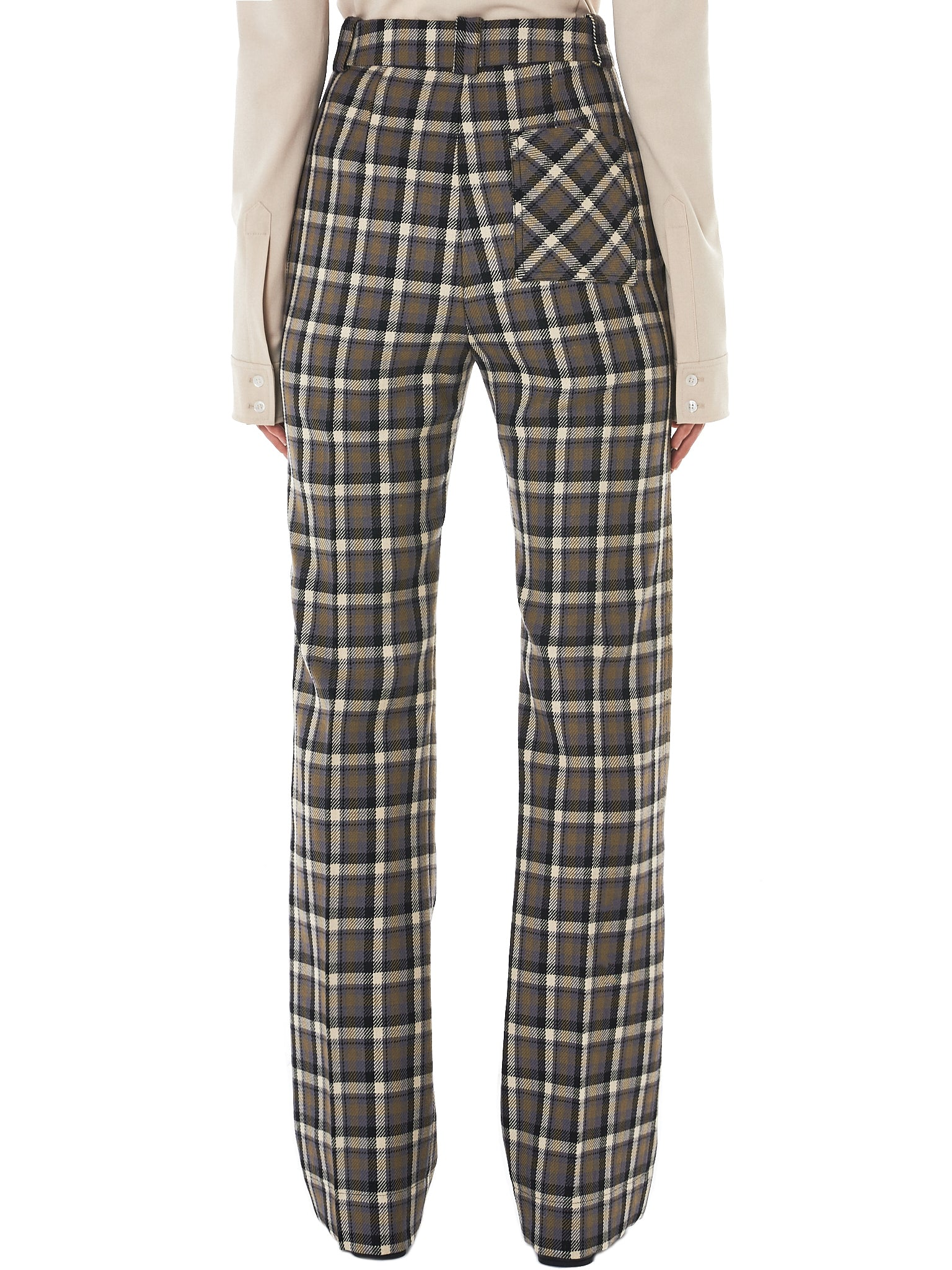 Kwaidan Check Trousers - Hlorenzo Back