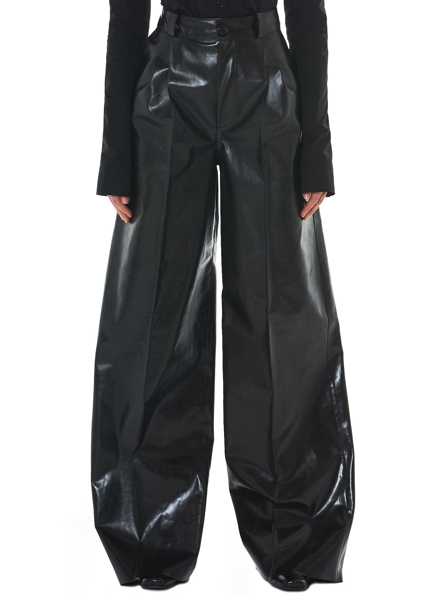 Kwaidan Rubberized Trousers - Hlorenzo Front