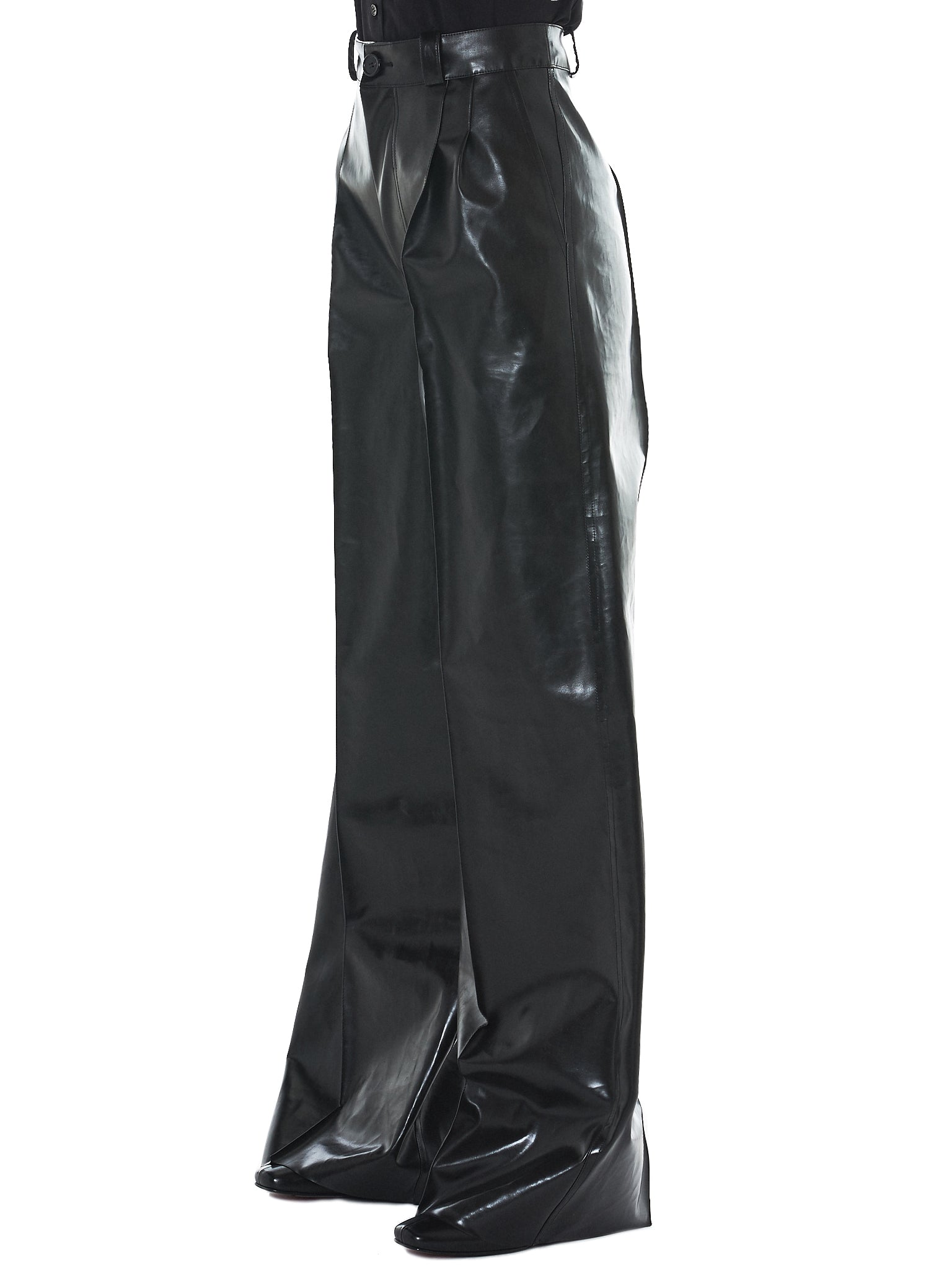 Kwaidan Rubberized Trousers - Hlorenzo Side