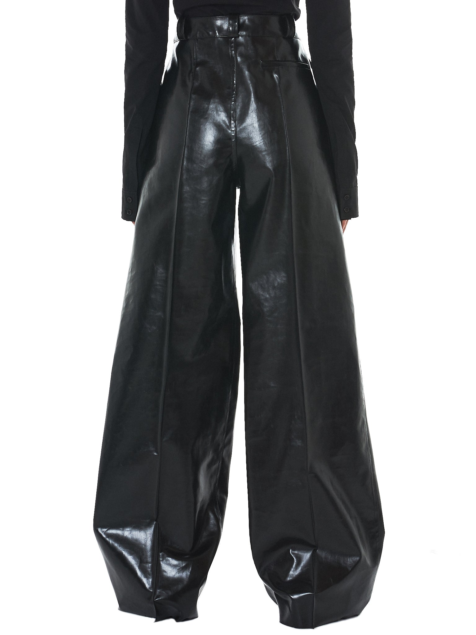Kwaidan Rubberized Trousers - Hlorenzo Back