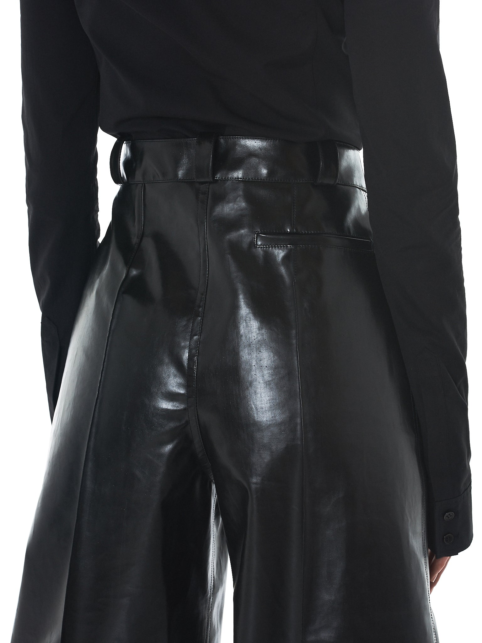 Kwaidan Rubberized Trousers - Hlorenzo Detail 2