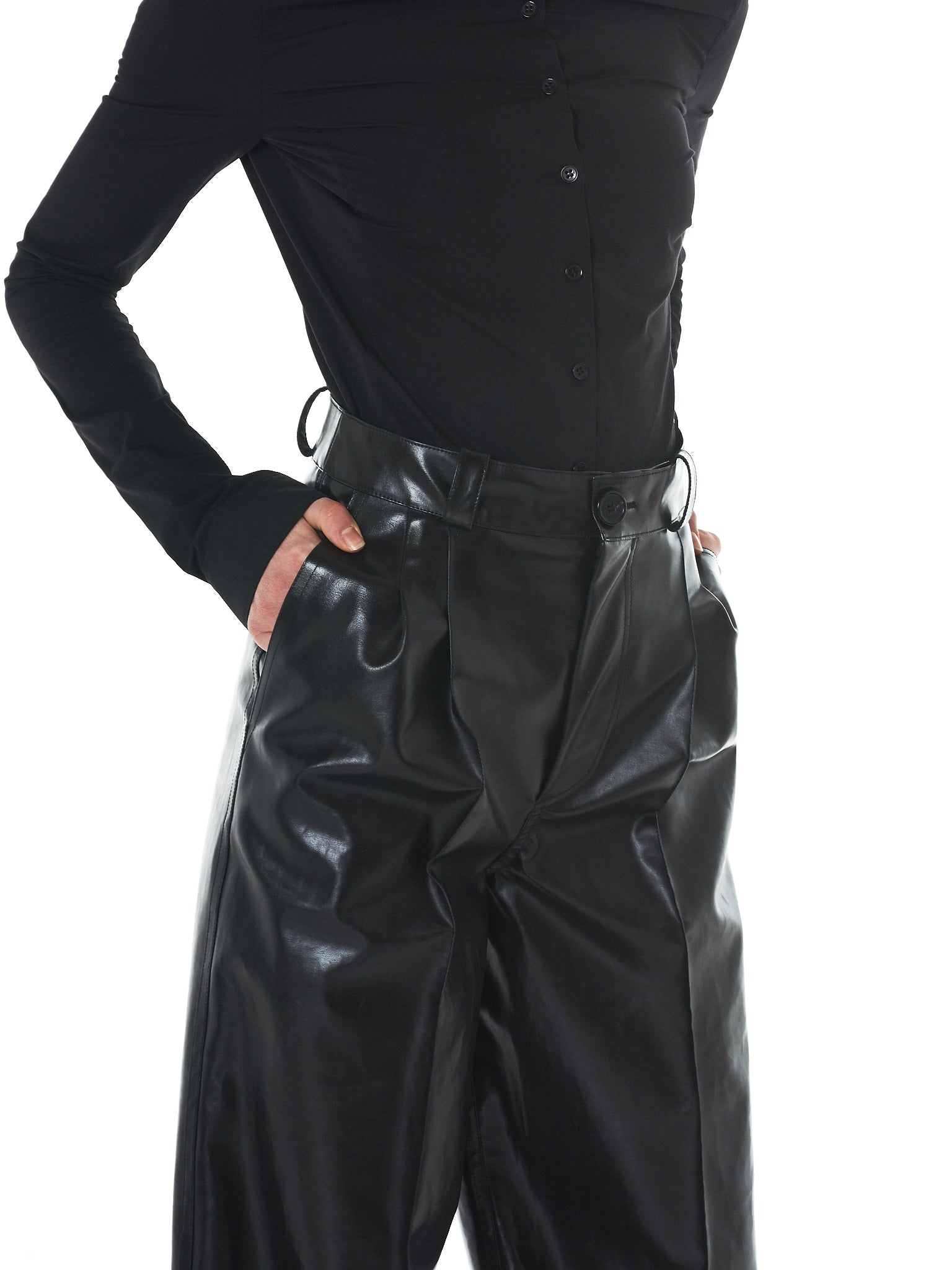 Kwaidan Rubberized Trousers - Hlorenzo Detail 1