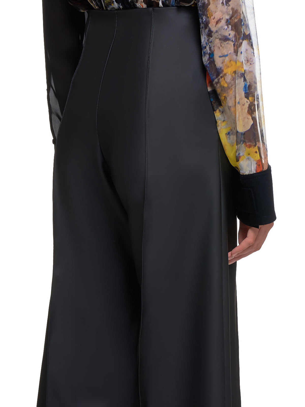 Wide Leg Phat Trousers (P022W-CS-BLACK)