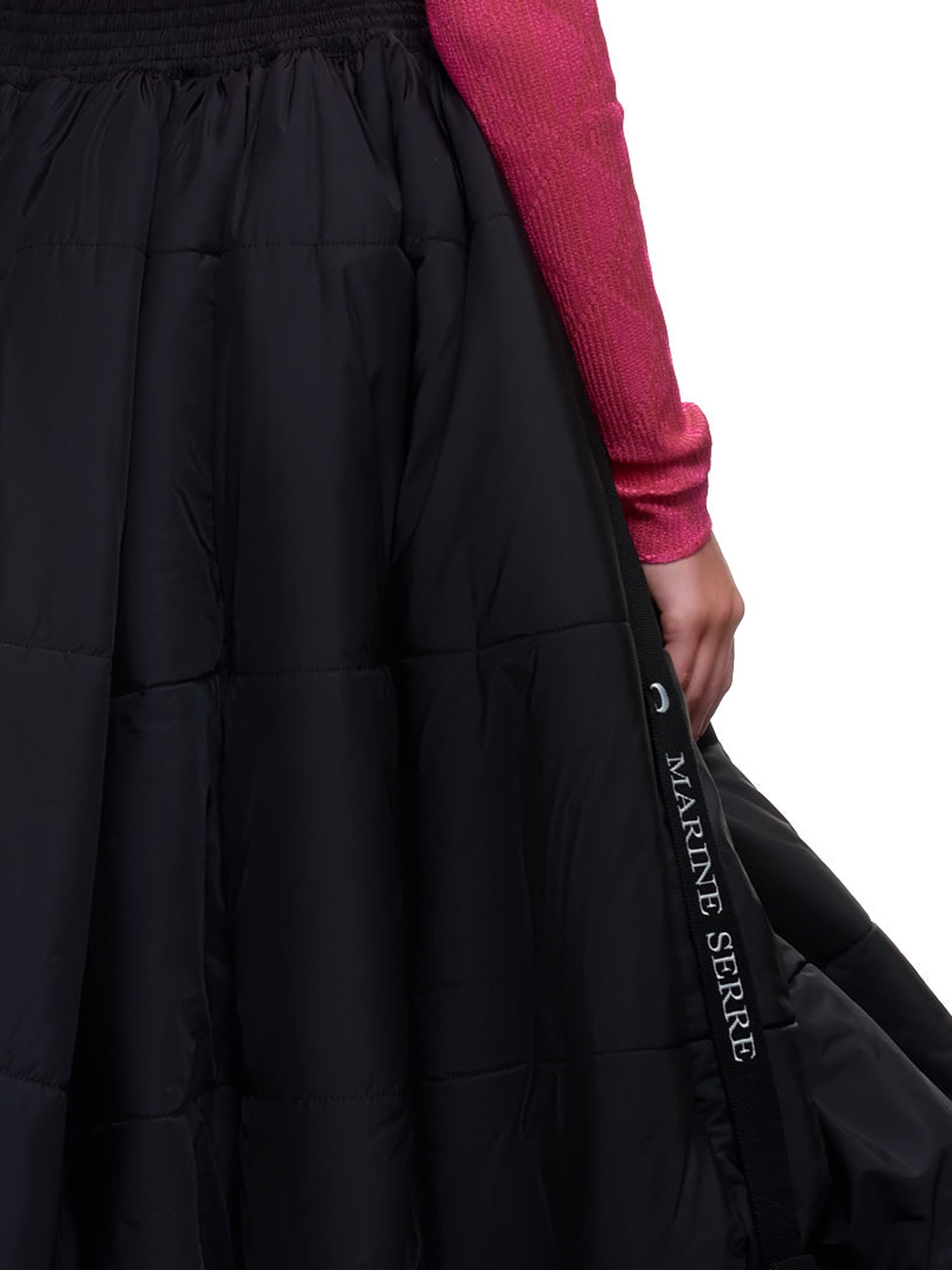 Padded Bubble Skirt (S055W-BLACK)