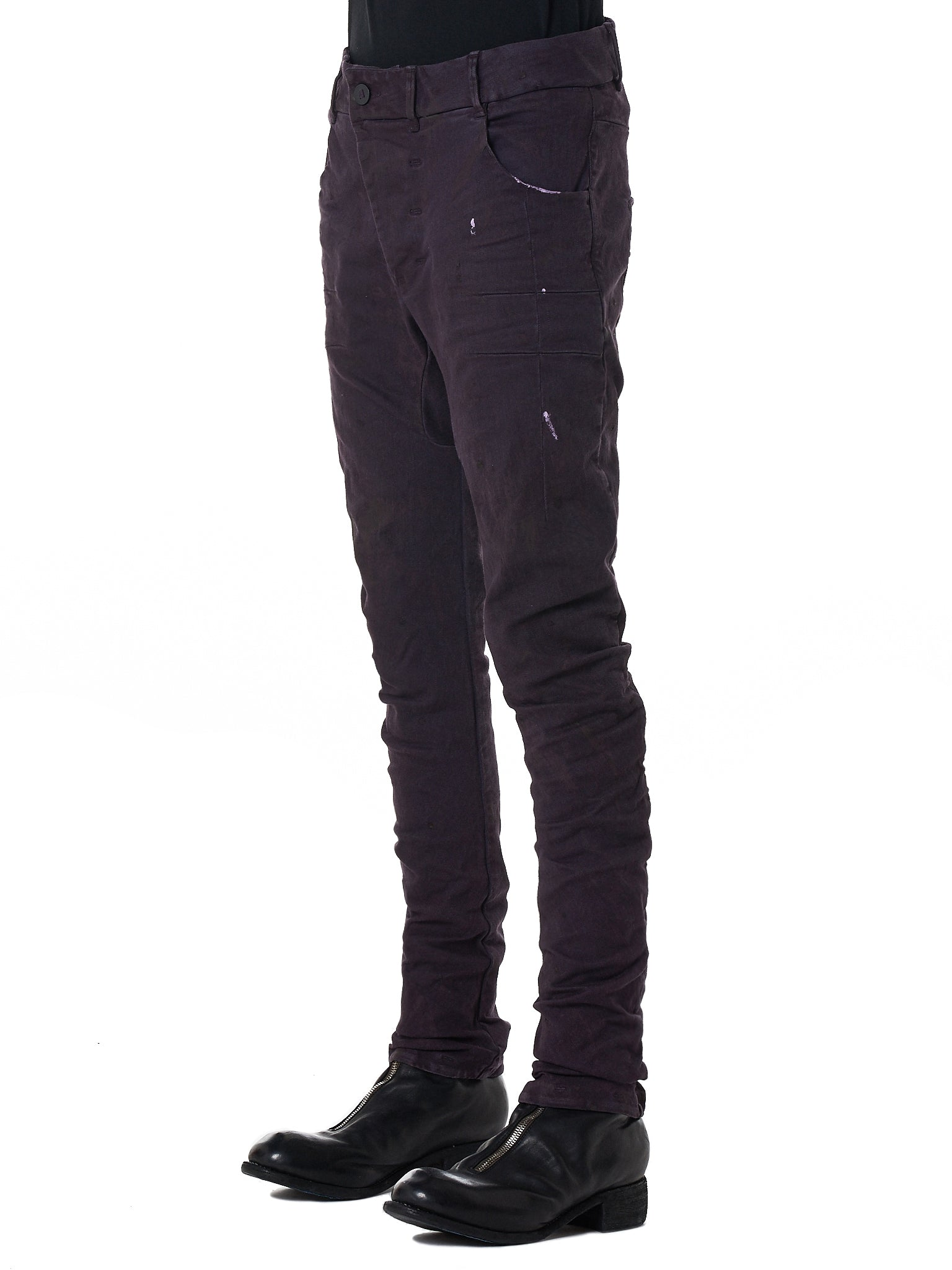 Boris Bidjan Saberi 'P13' Purple Denim - Hlorenzo Side