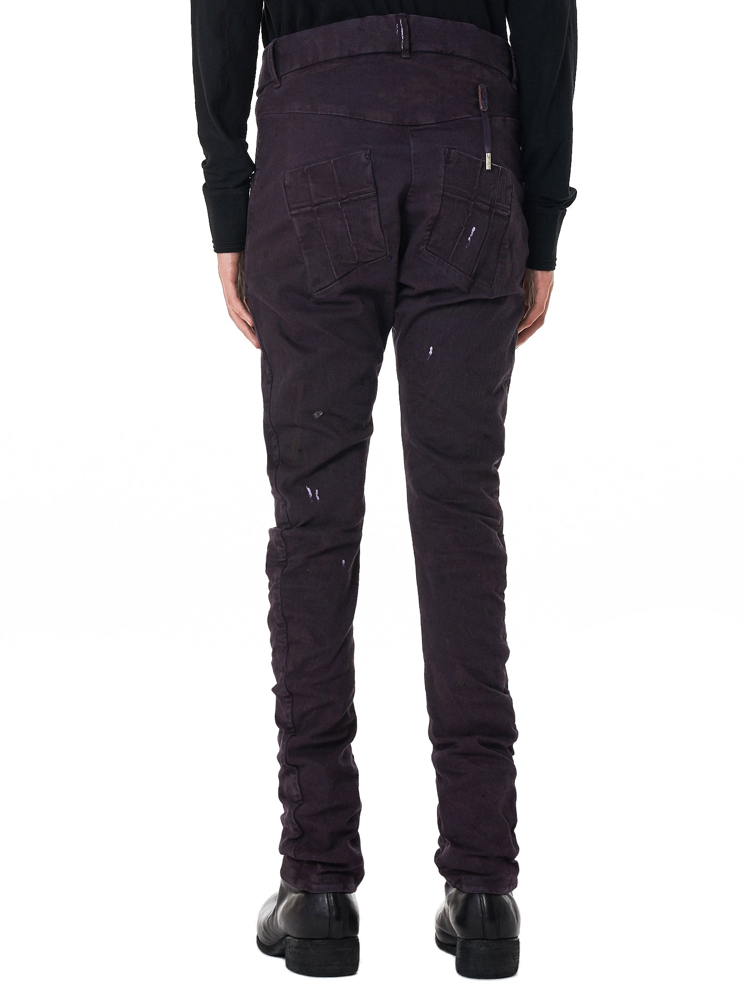 Boris Bidjan Saberi 'P13' Purple Denim - Hlorenzo Back